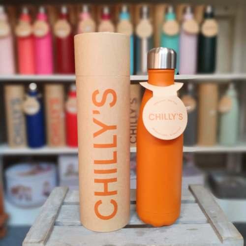 Burnt Orange Chilly's Bottle