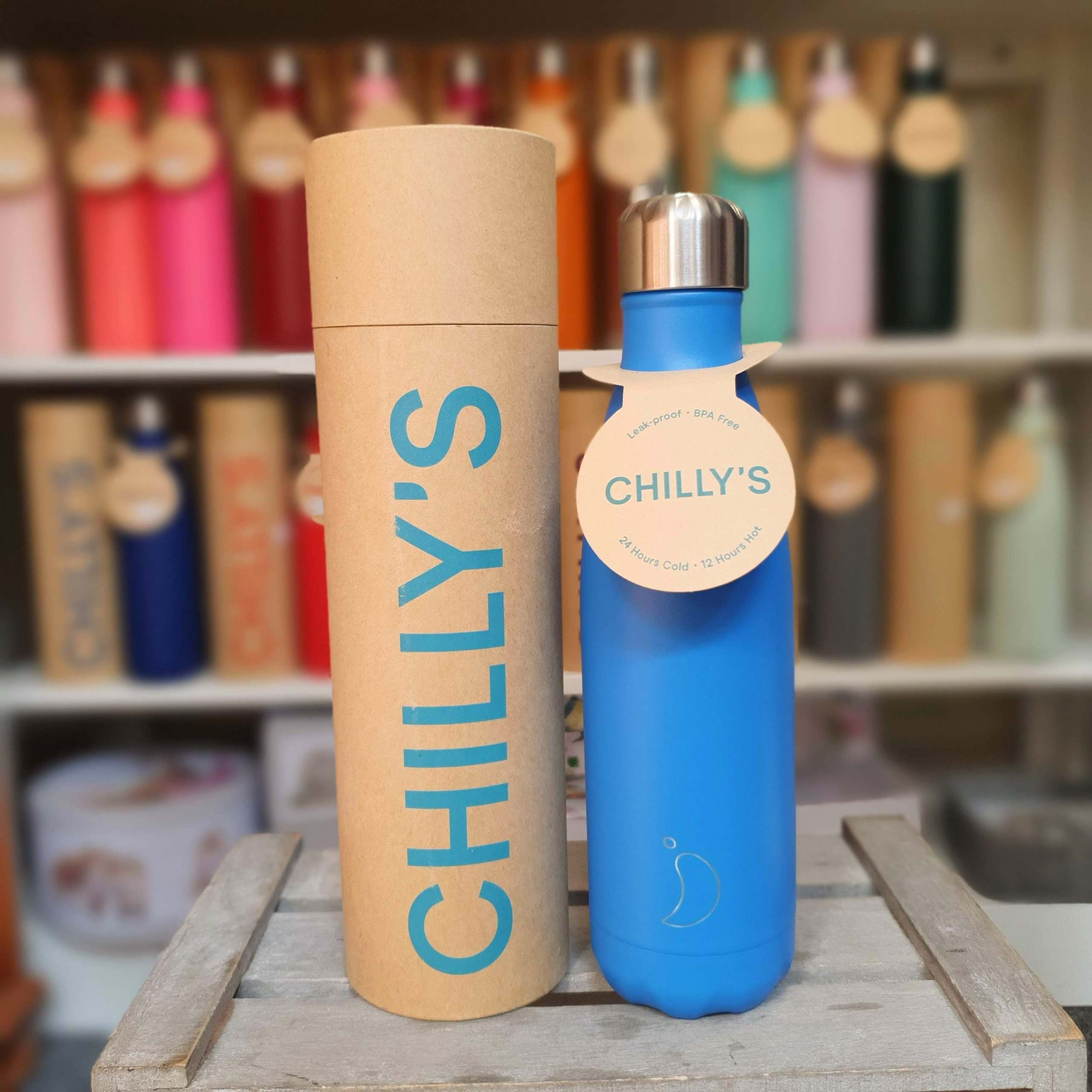 Large Neon Blue Chilly's Bottle