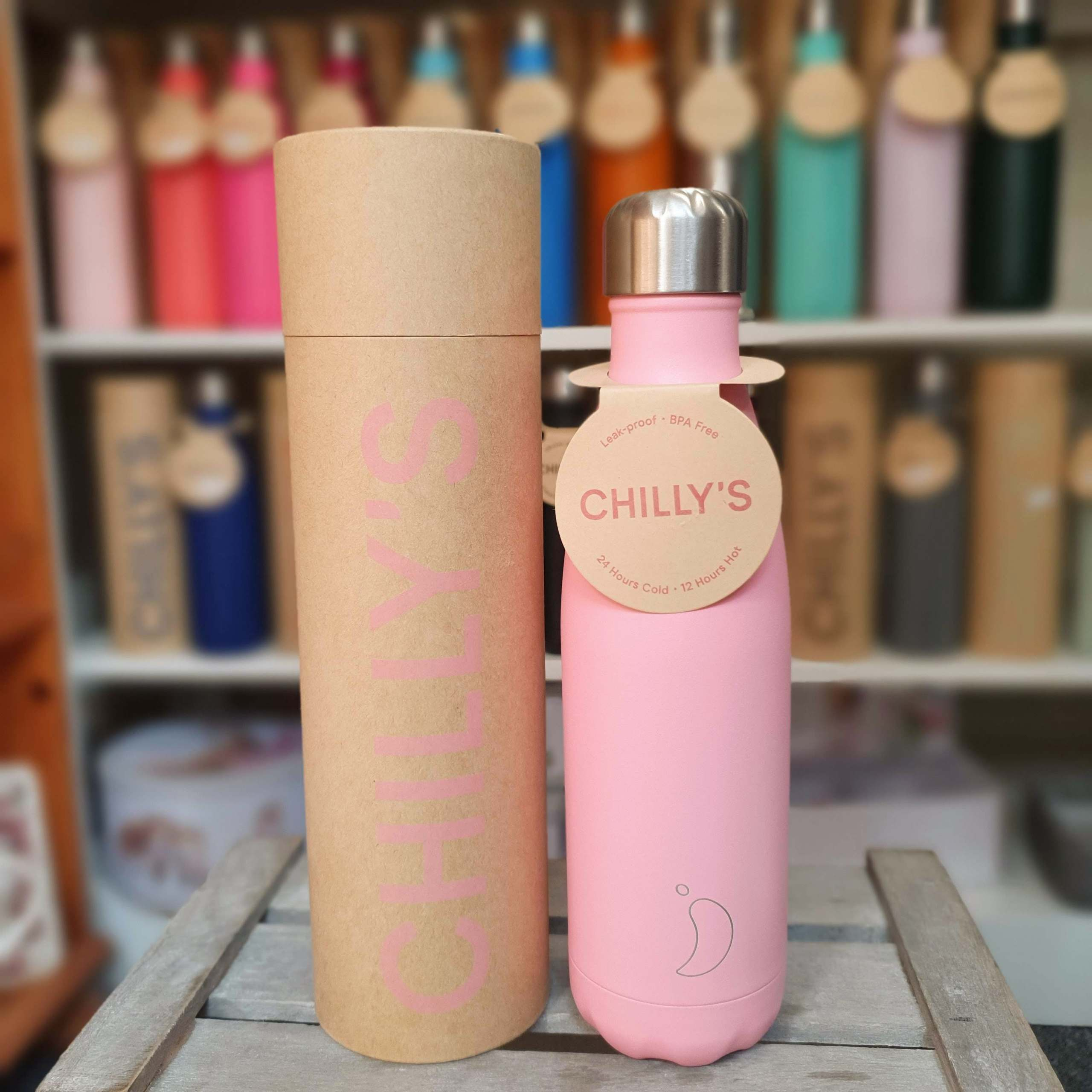 Large Pastel Pink Chilly's Bottle