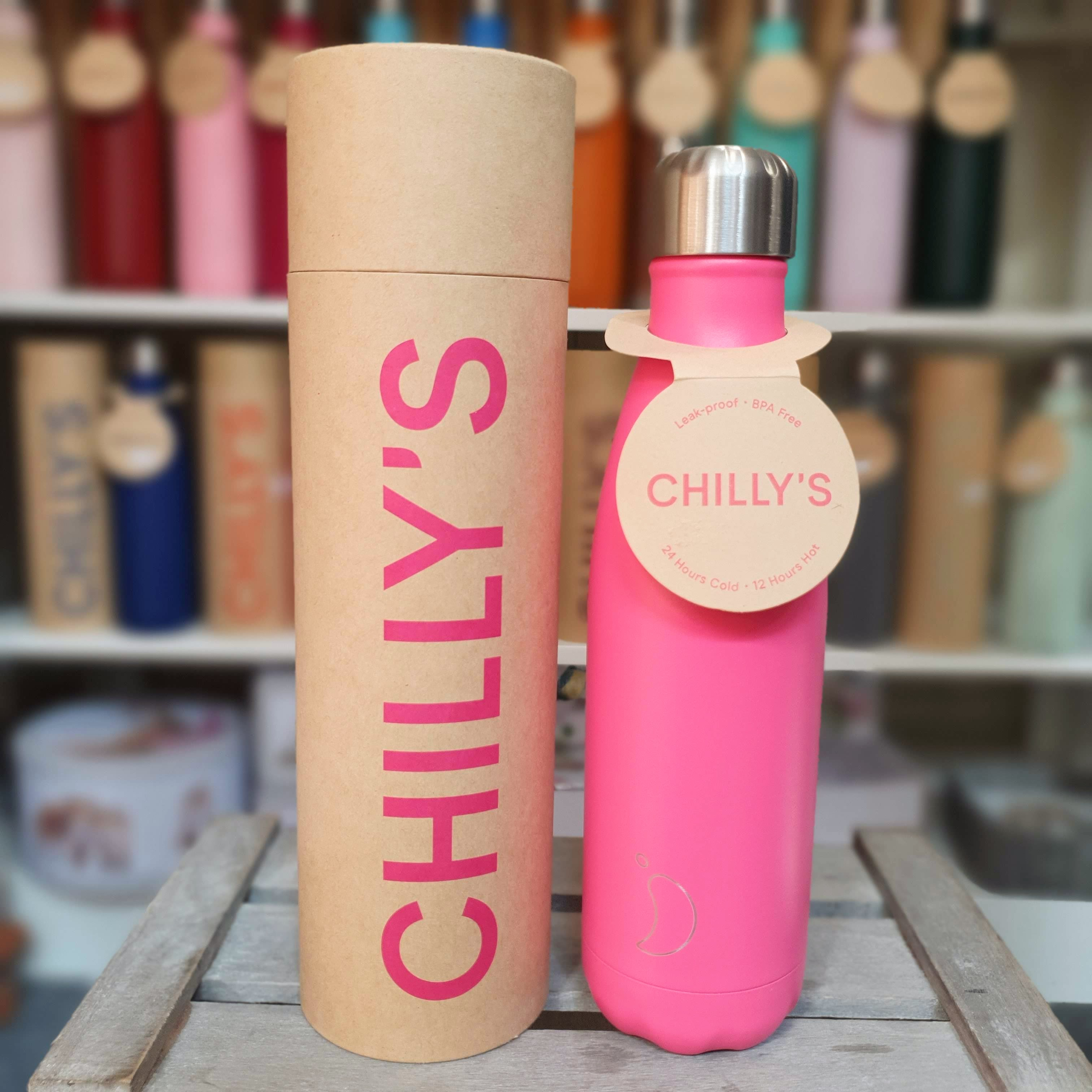 Neon Pink Chilly's Bottle