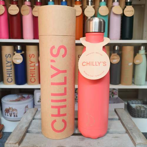 Large Peach Chilly's Bottle