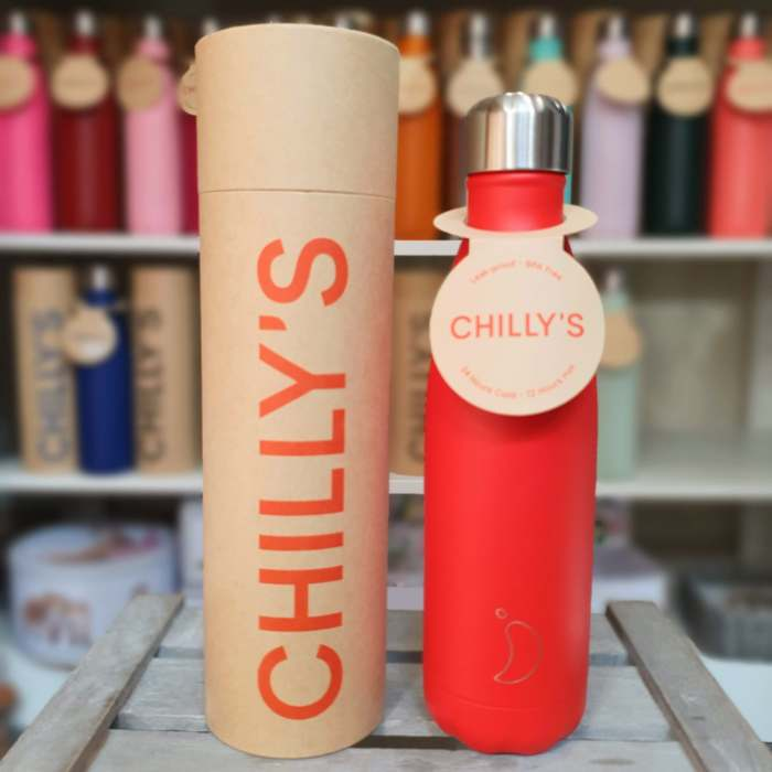 Red Large Chilly's Bottle