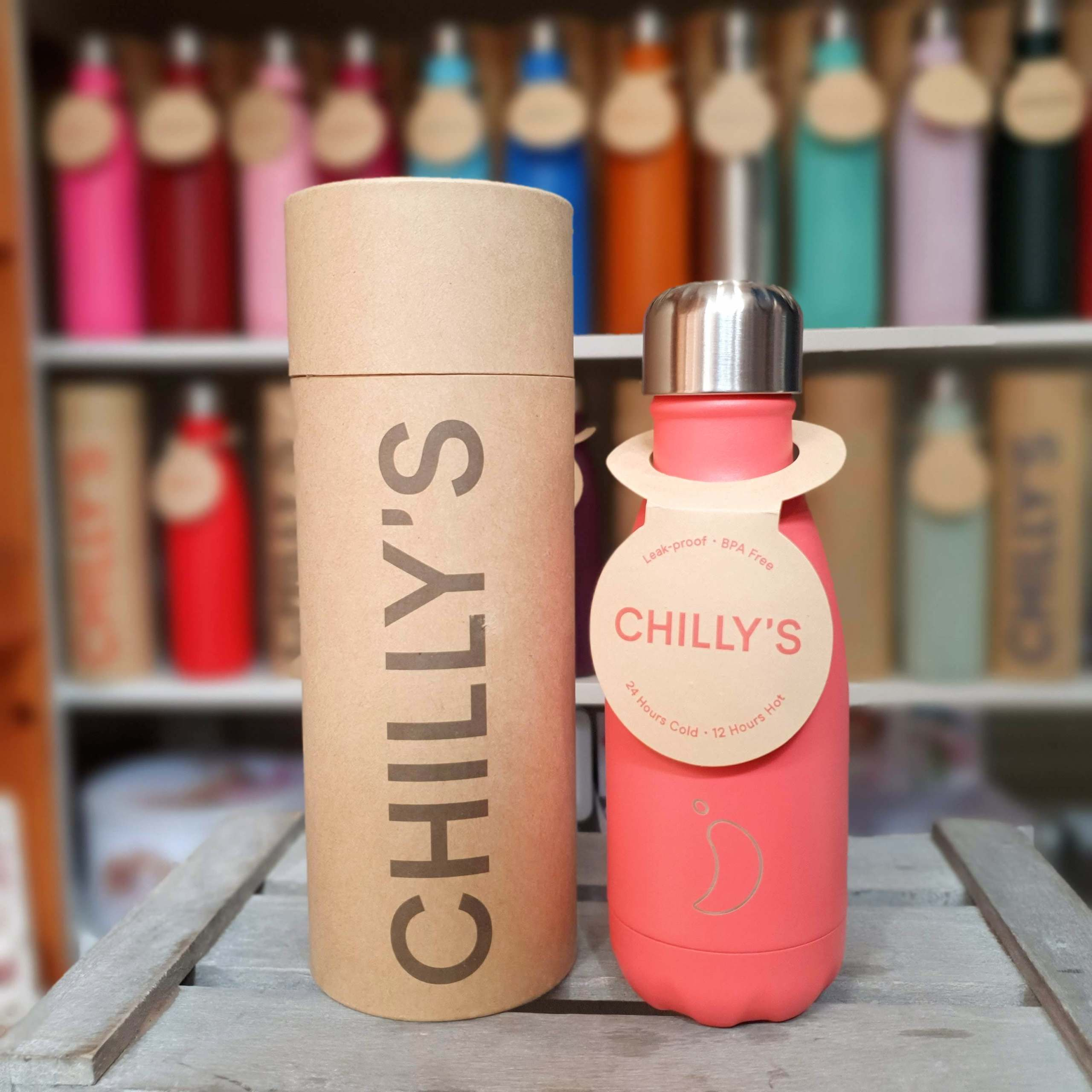 Small Peach Chilly's Bottle