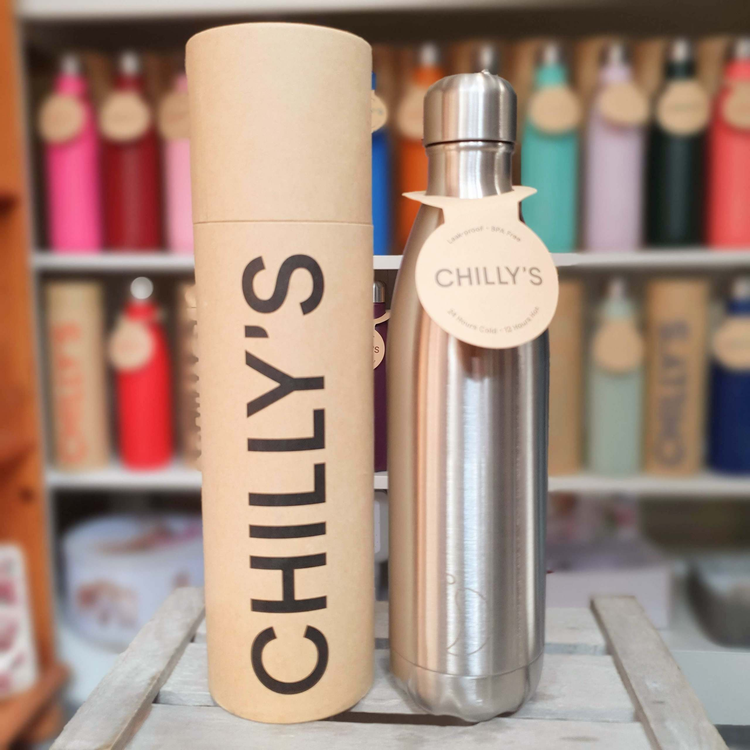 Large Stainless Steel Chilly's Bottle