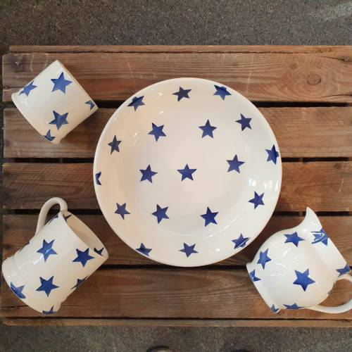emma bridgewater blue star collection over