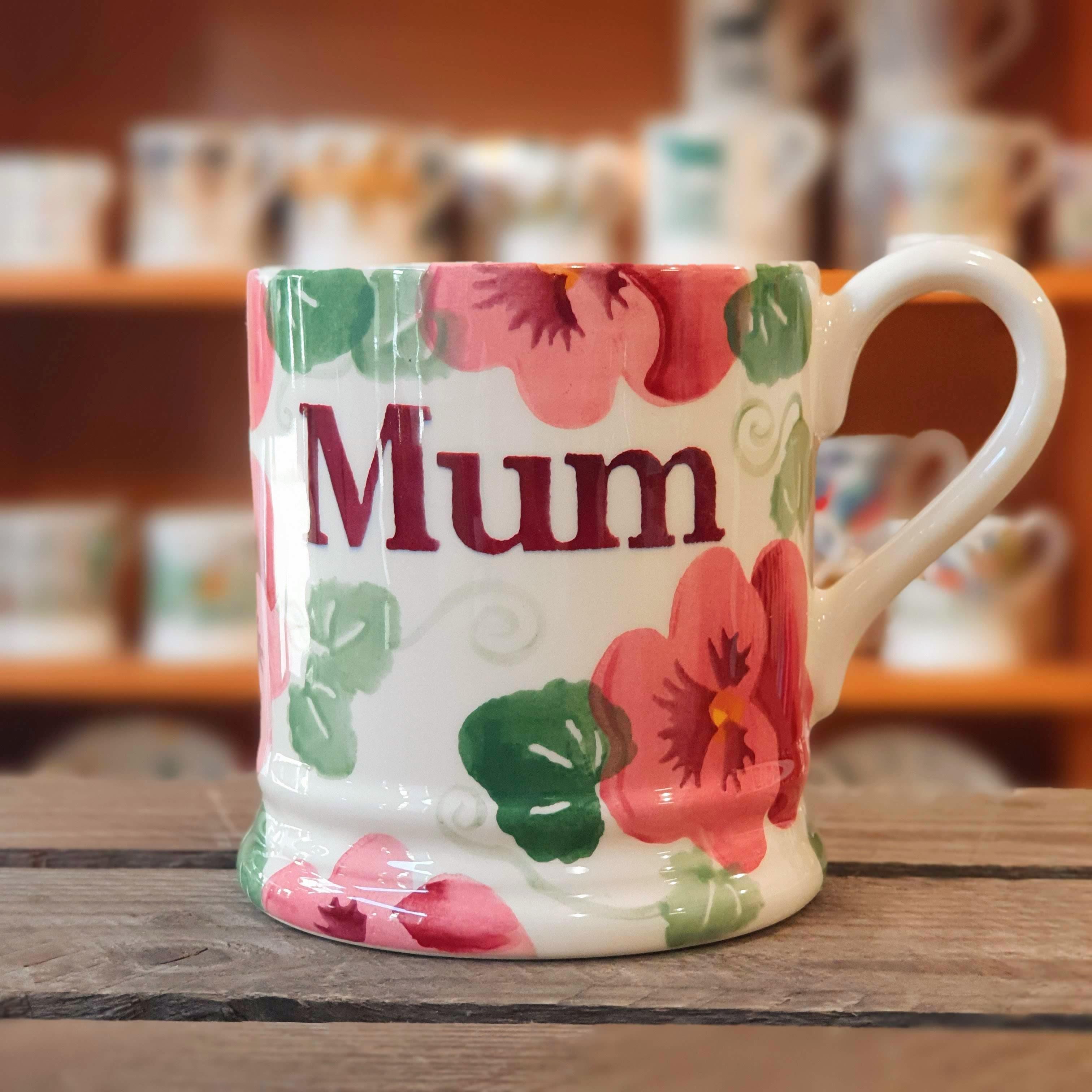 emma bridgewater pansy mum half pint mug