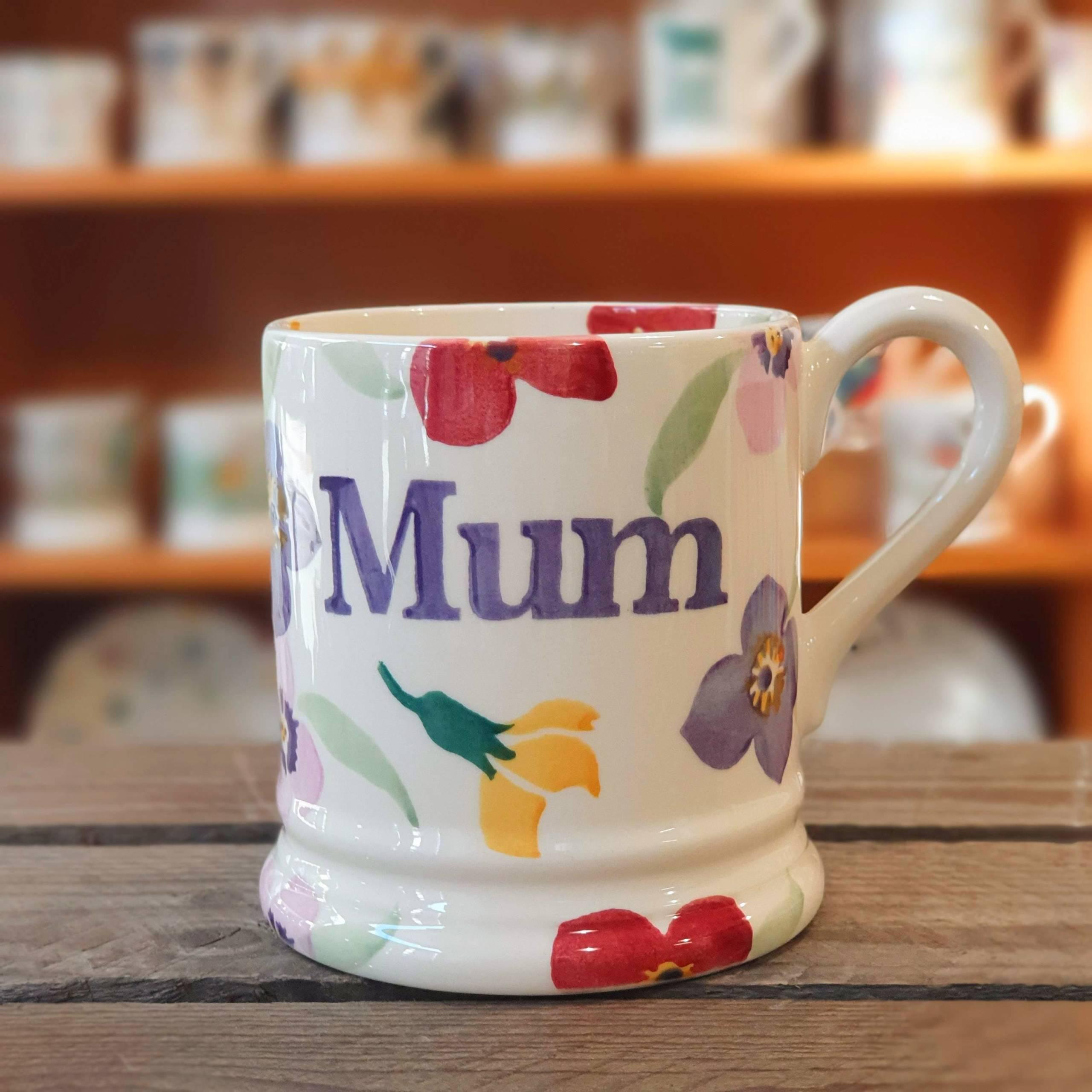 emma bridgewater multi colour flower mum mug