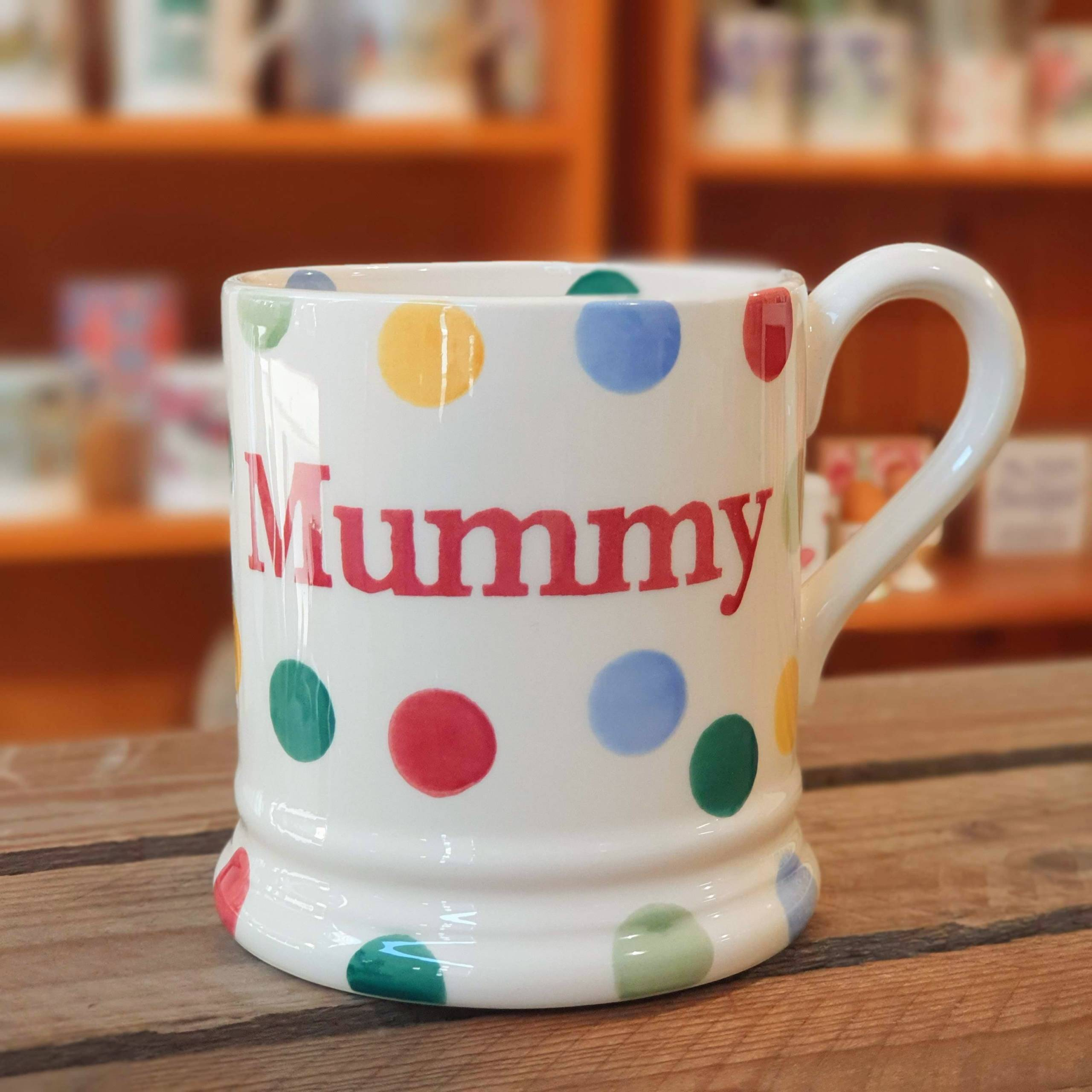 emma bridgwater polka dot mummy mug