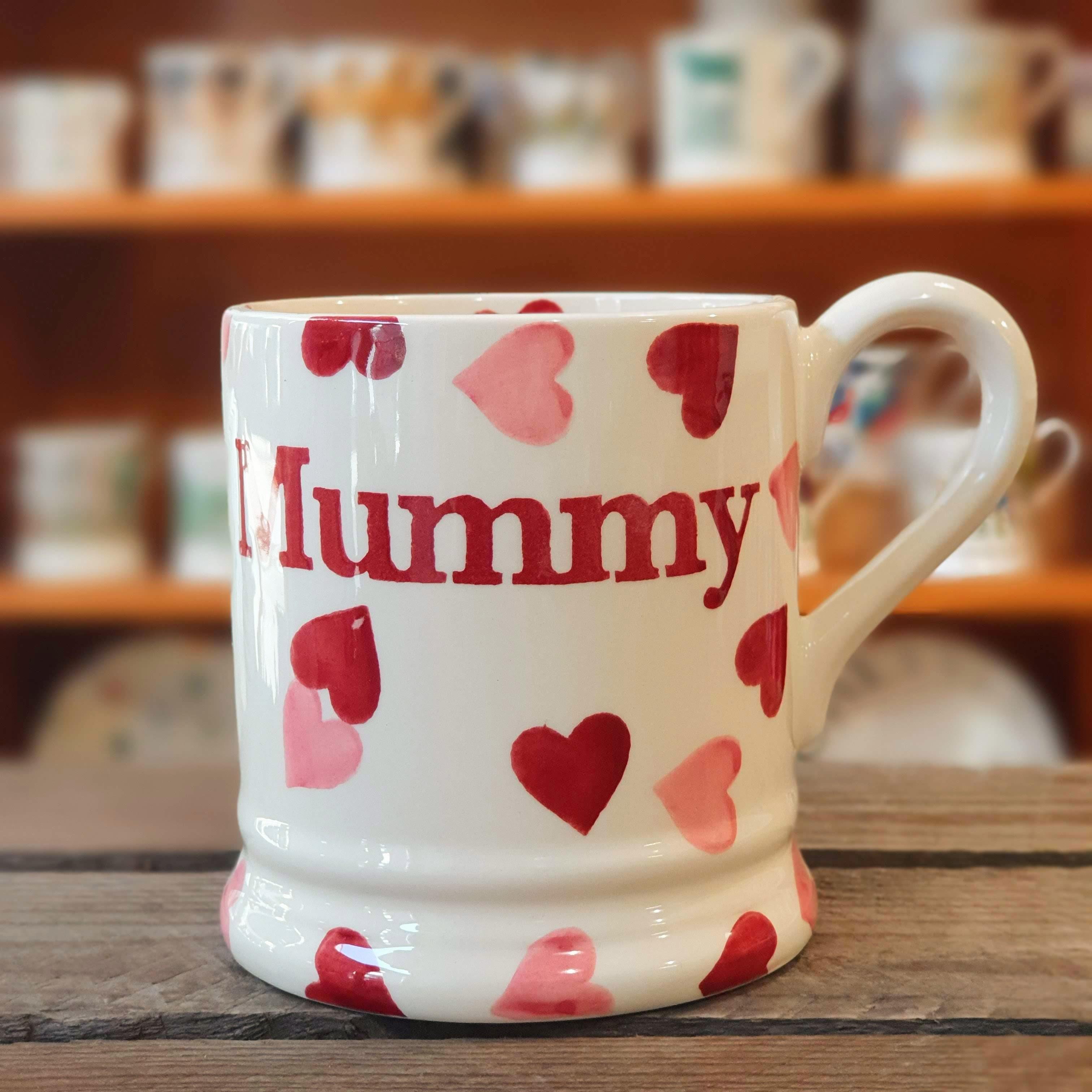 emma bridgewater pink hearts mummy mug