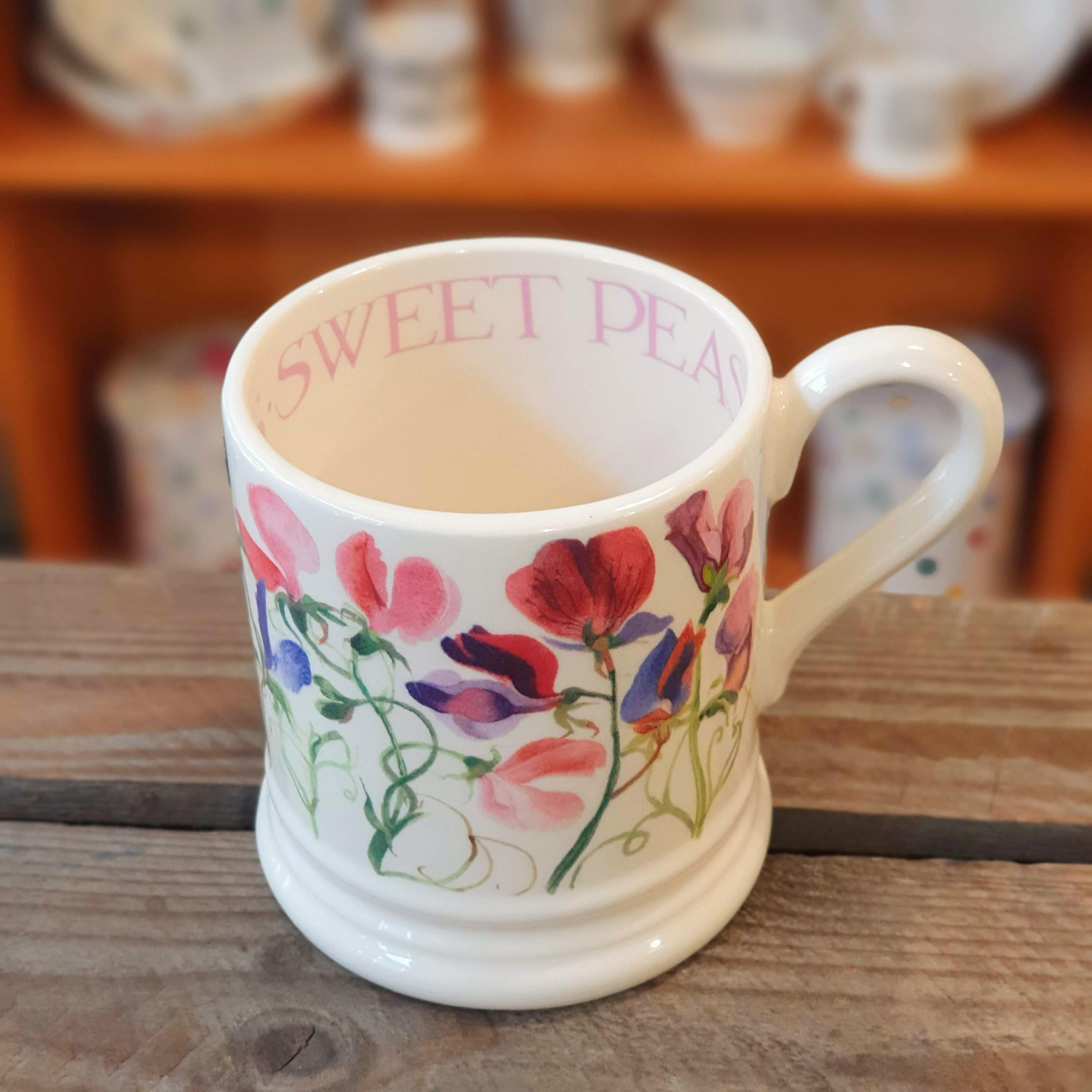 emma bridgewater sweet peas mug