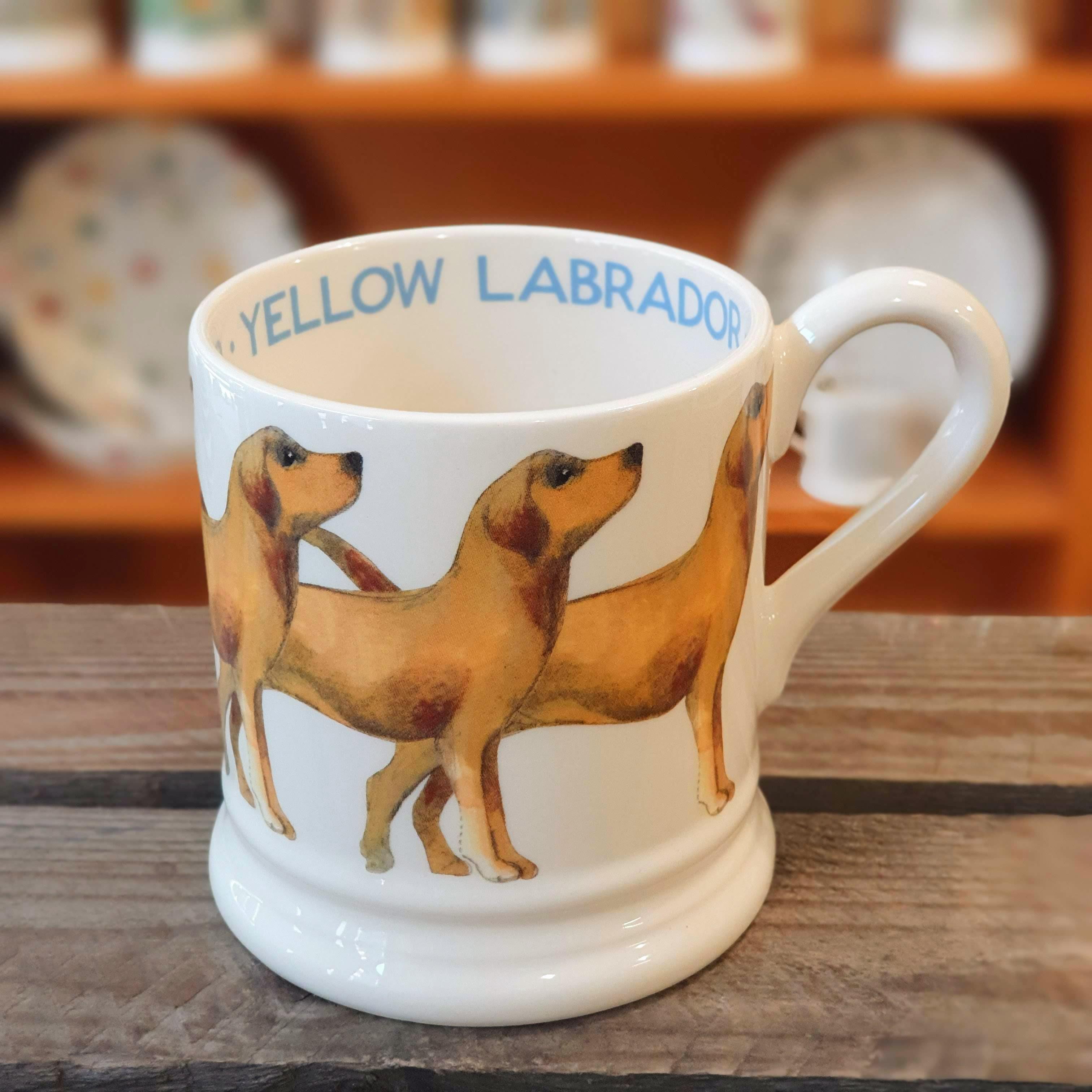 emma bridgewater yellow labrador mug