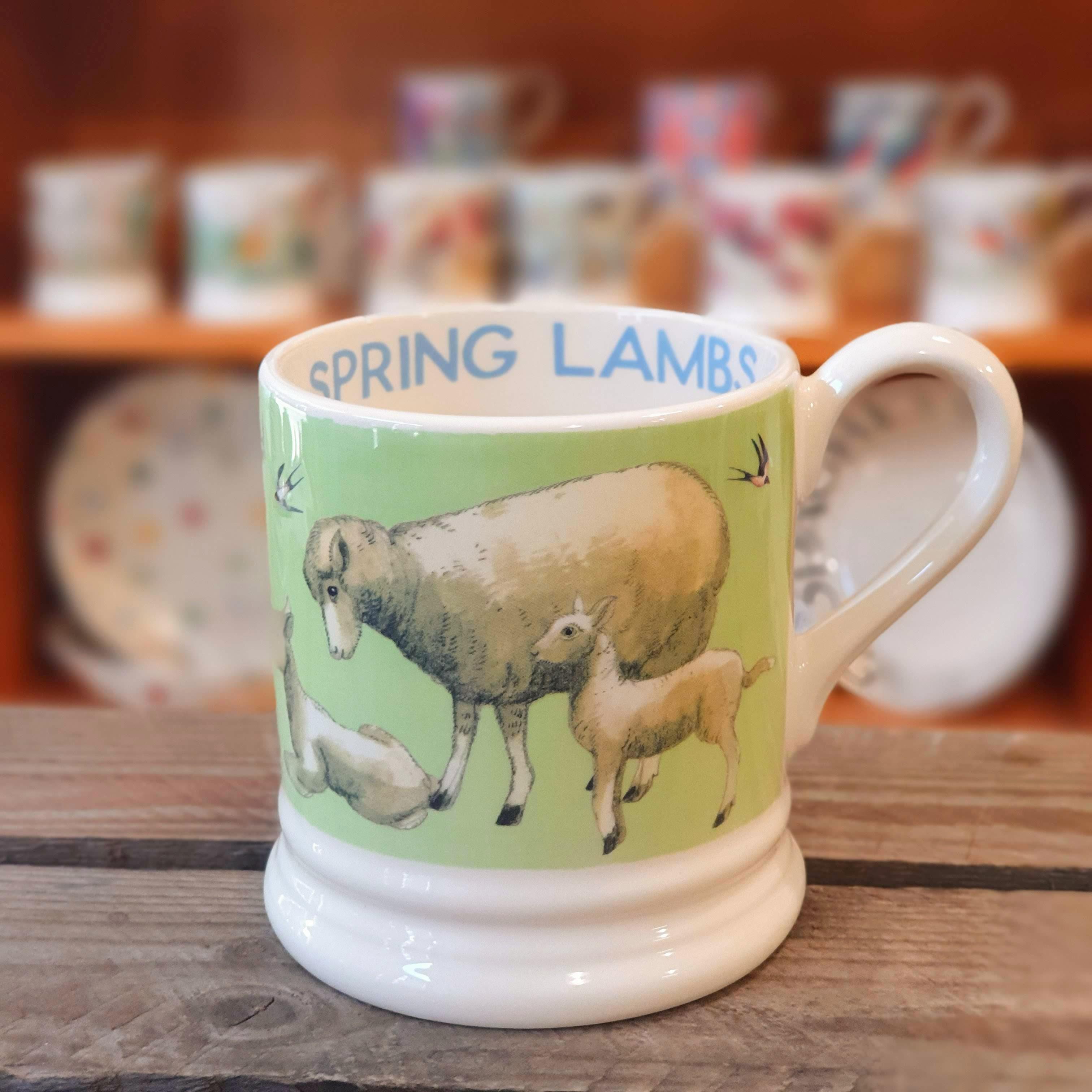 emma bridgewater spring lambs mug