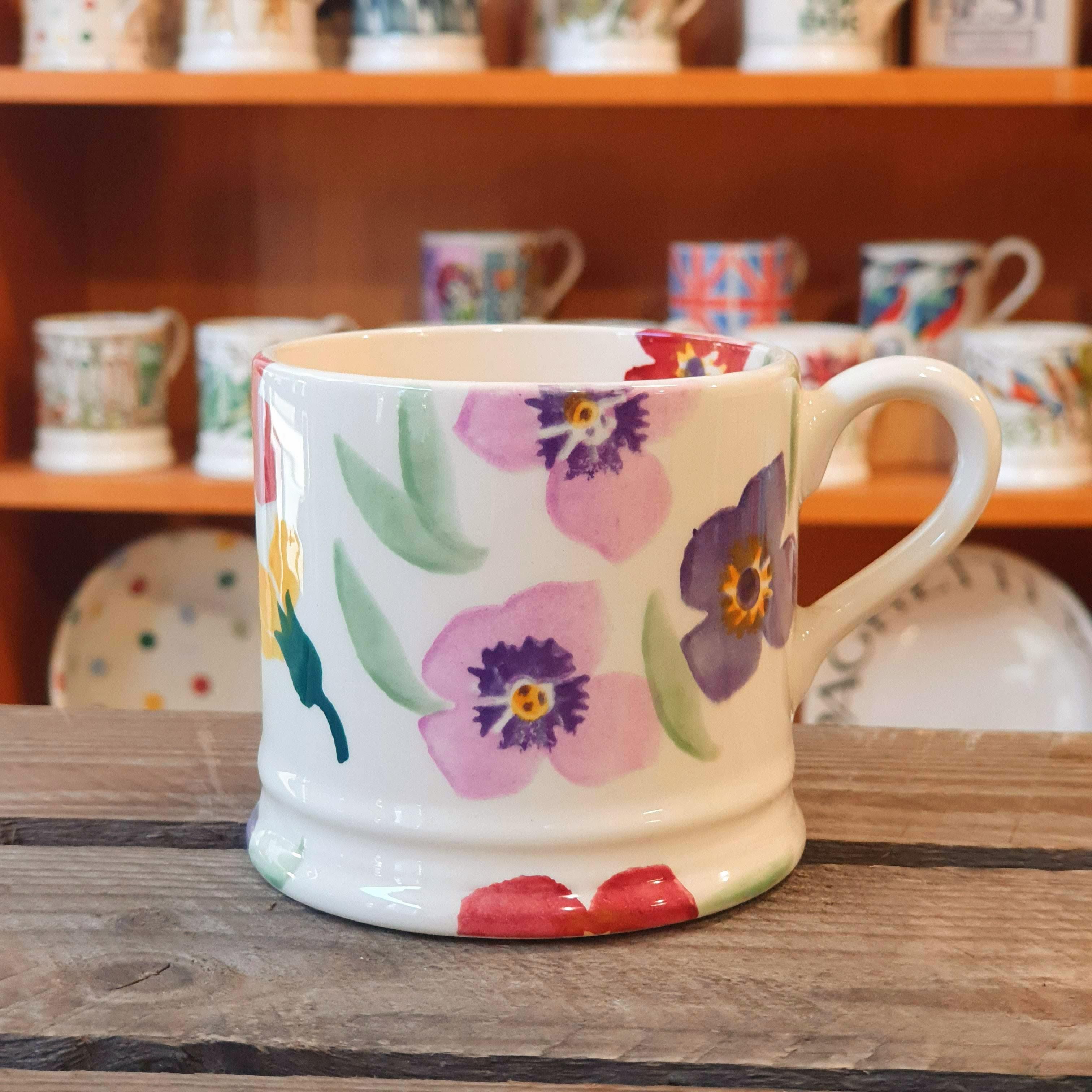 emma bridgewater multi colour flower small mug