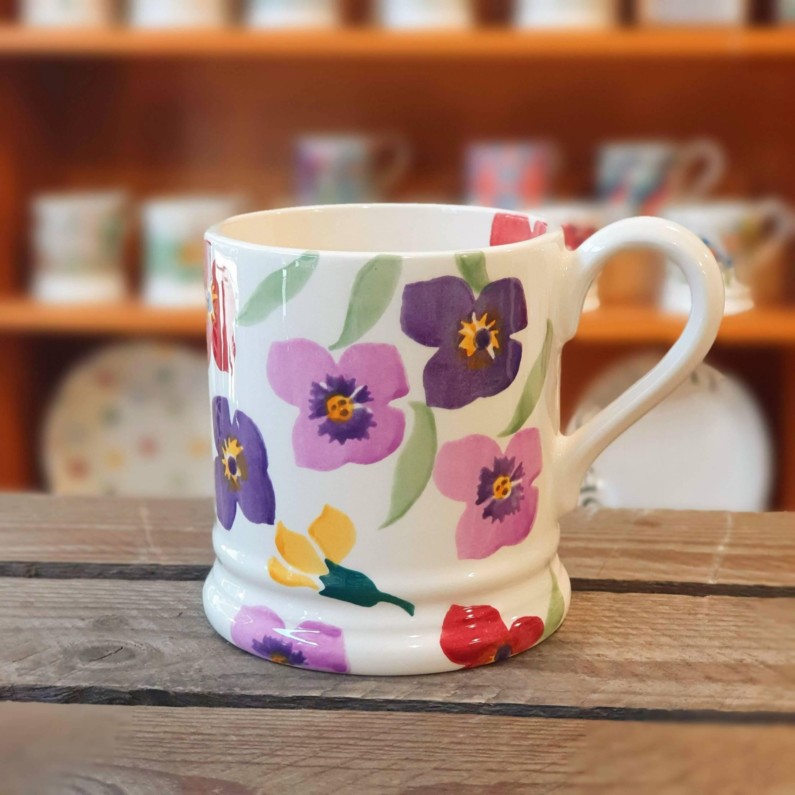 emma bridgewater multi-colour flower mug