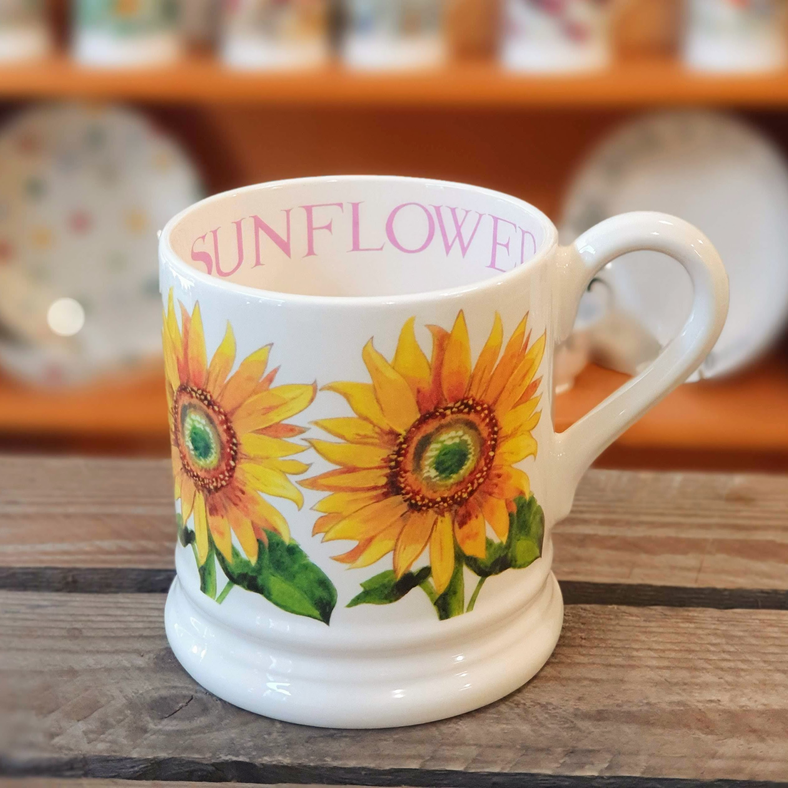 emma bridgewater sunflower mug