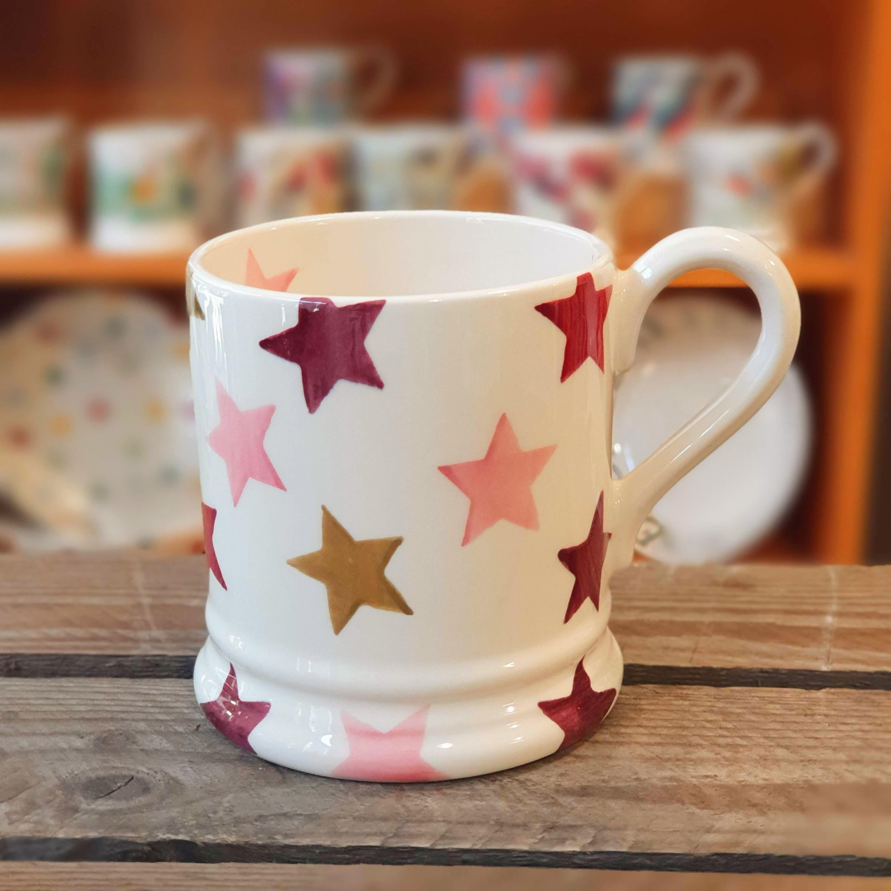 emma bridgewater pink star mug