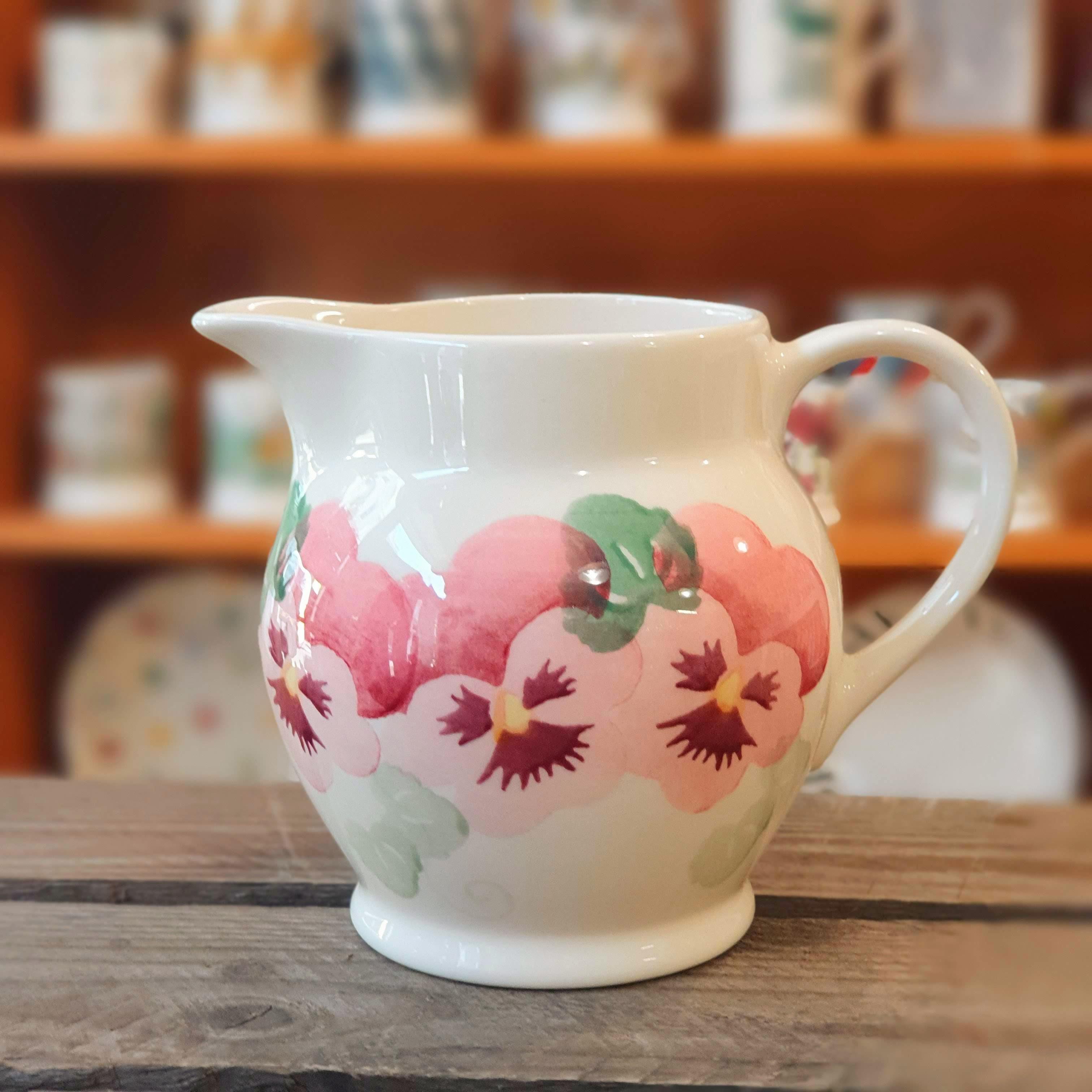 emma bridgewater pink pansy jug