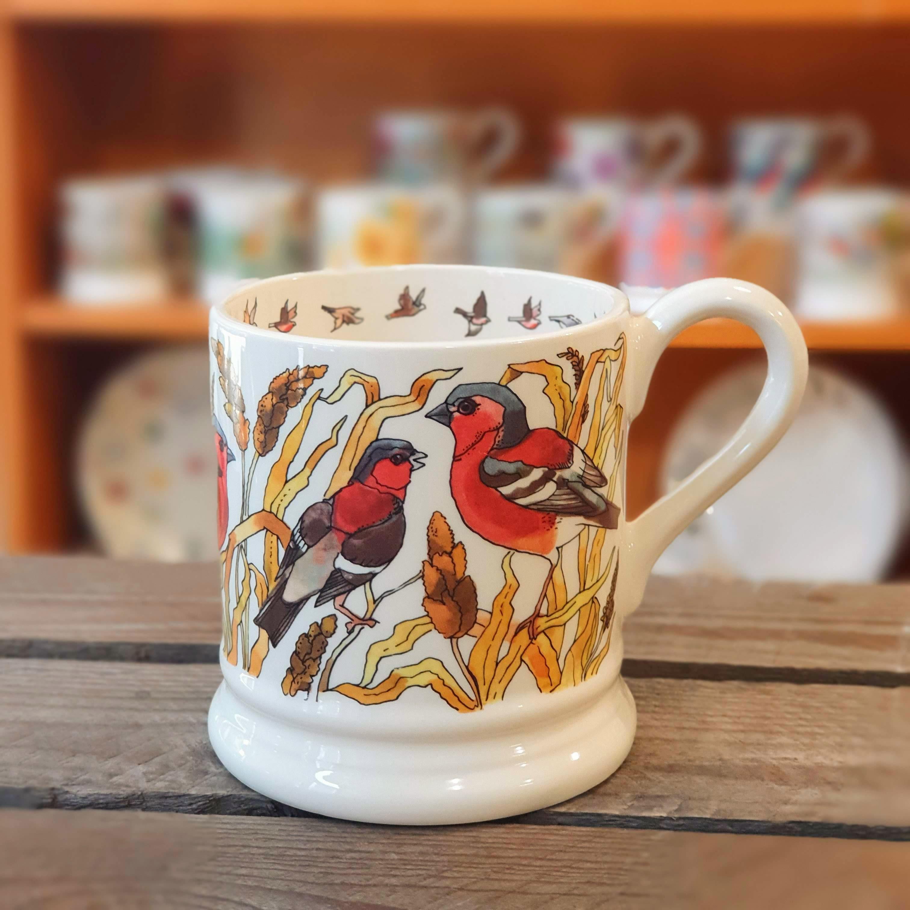 emma bridgewater red sparrow mug