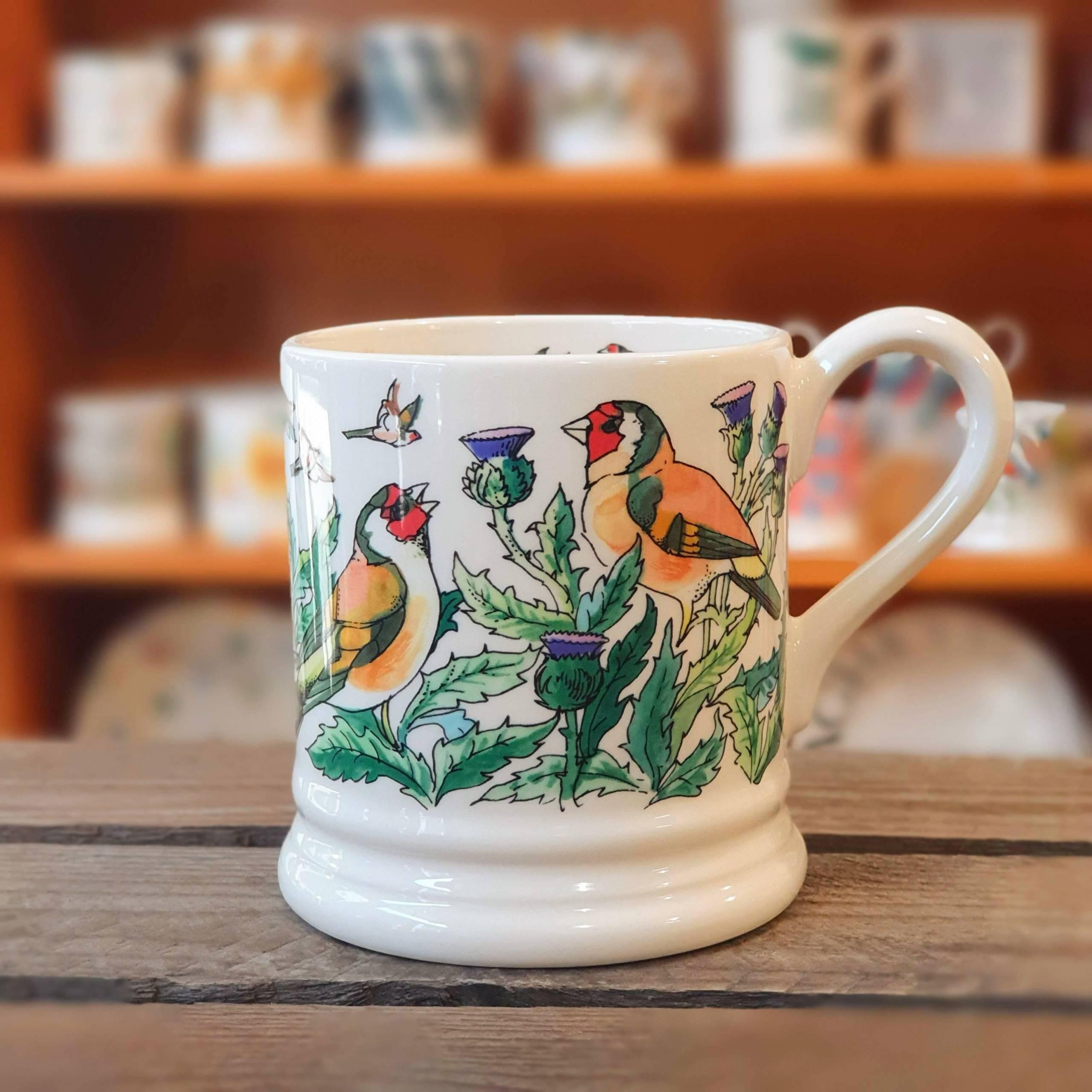 emma bridgewater bird thistle mug
