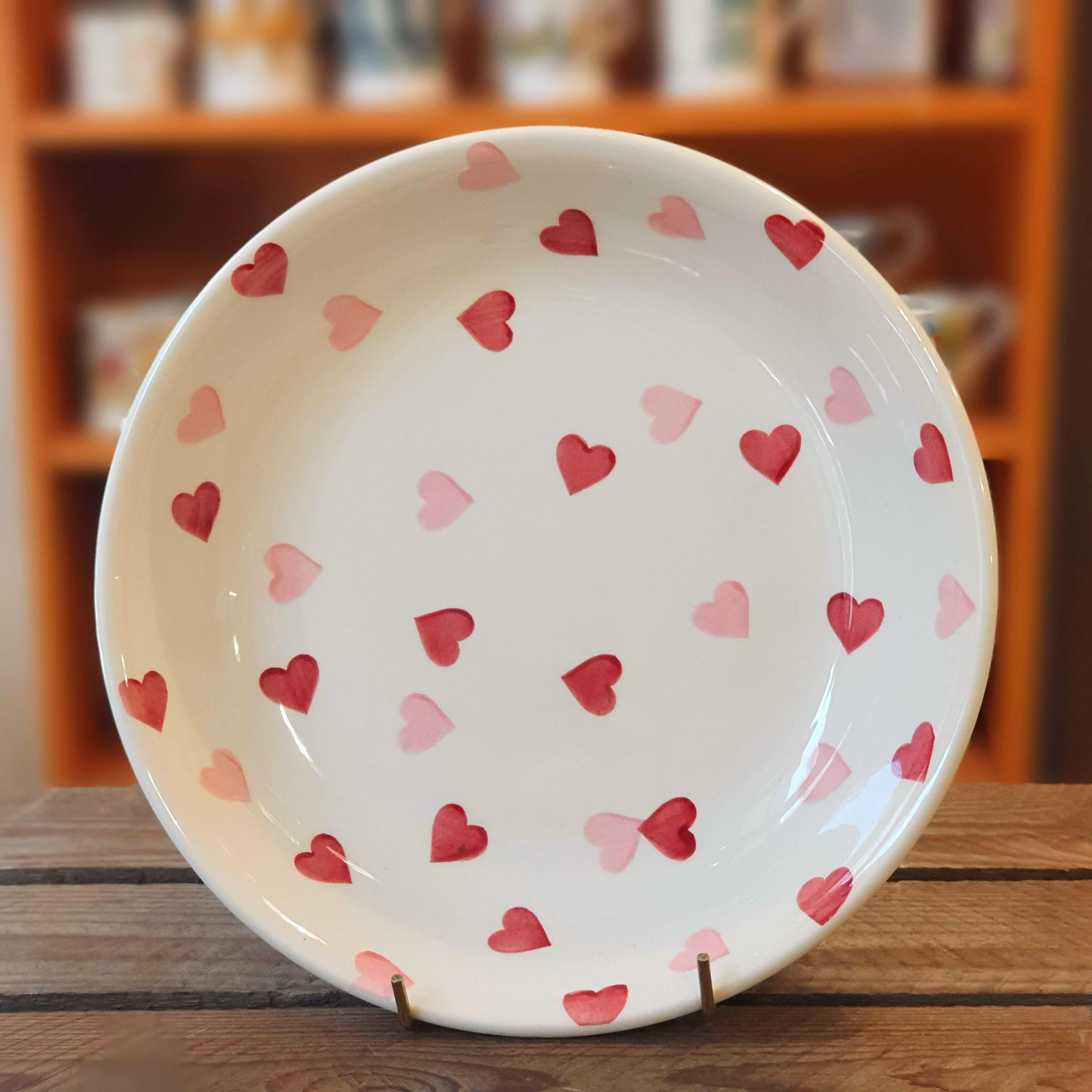 emma bridgewater pink hearts pasta bowl