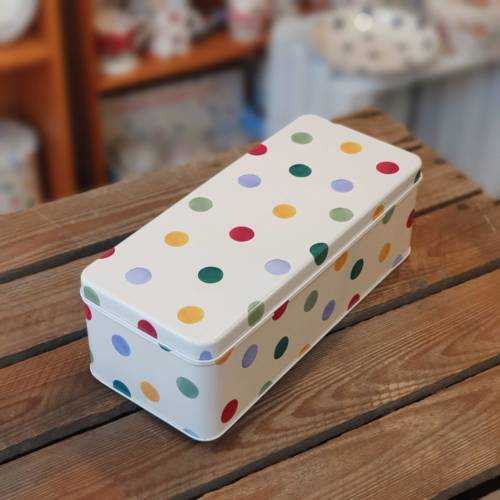 emma bridgewater polka dot rectangular tin