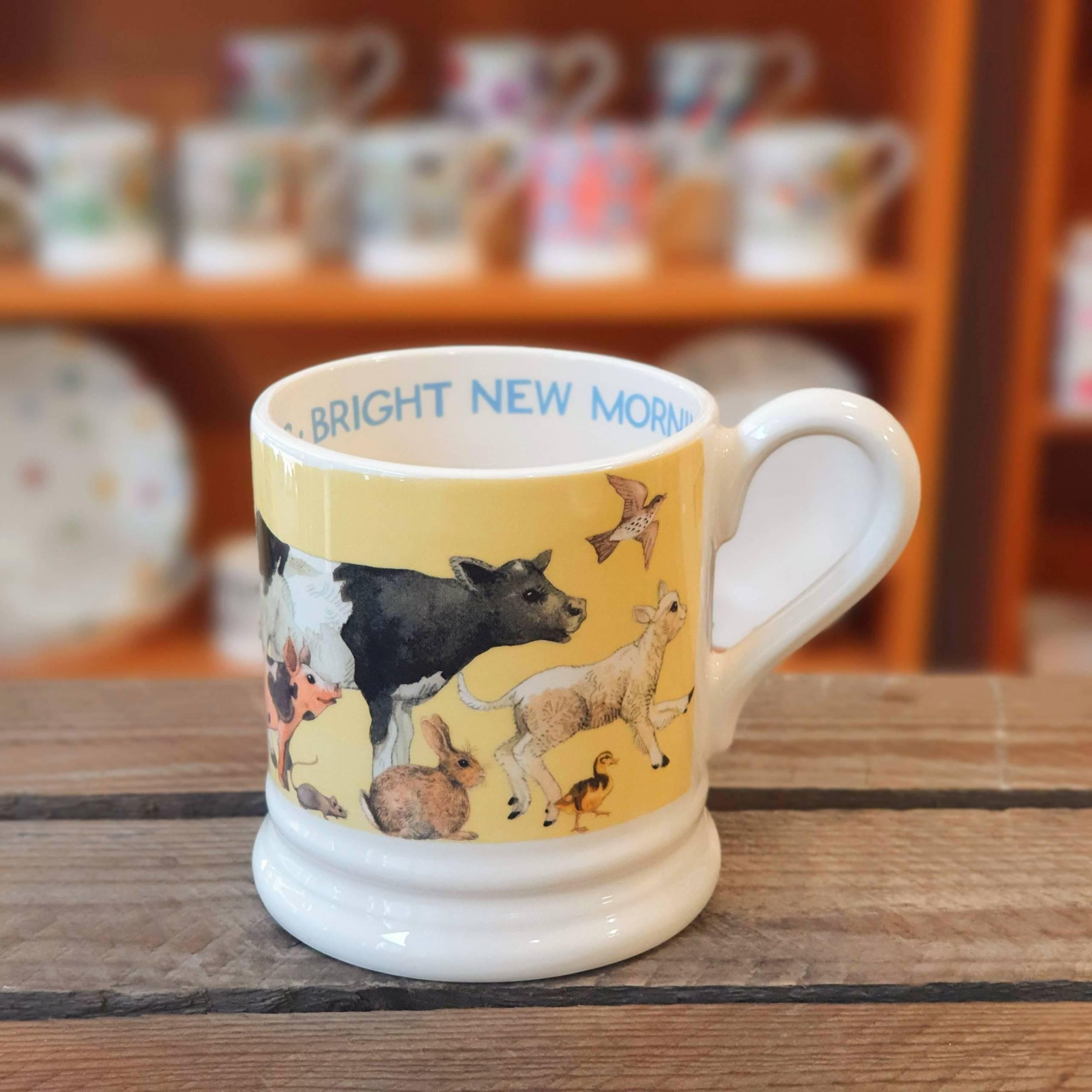 emma bridgewater bright new morning half pint mug