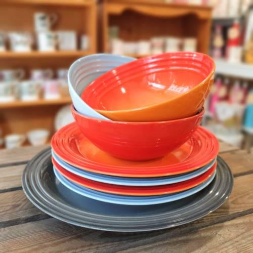 le creuset bowls multi colour