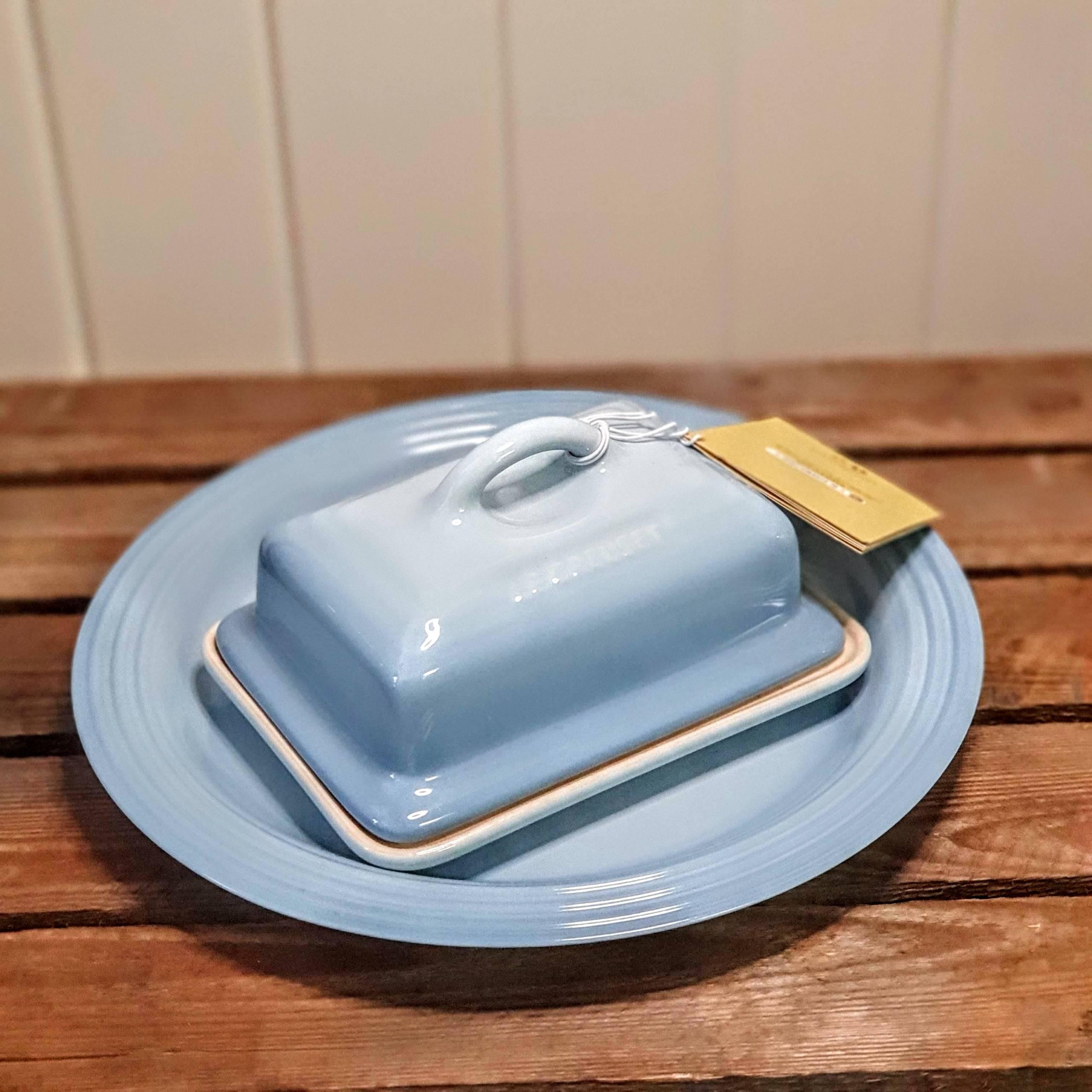 le creuset butter dish coastal blue