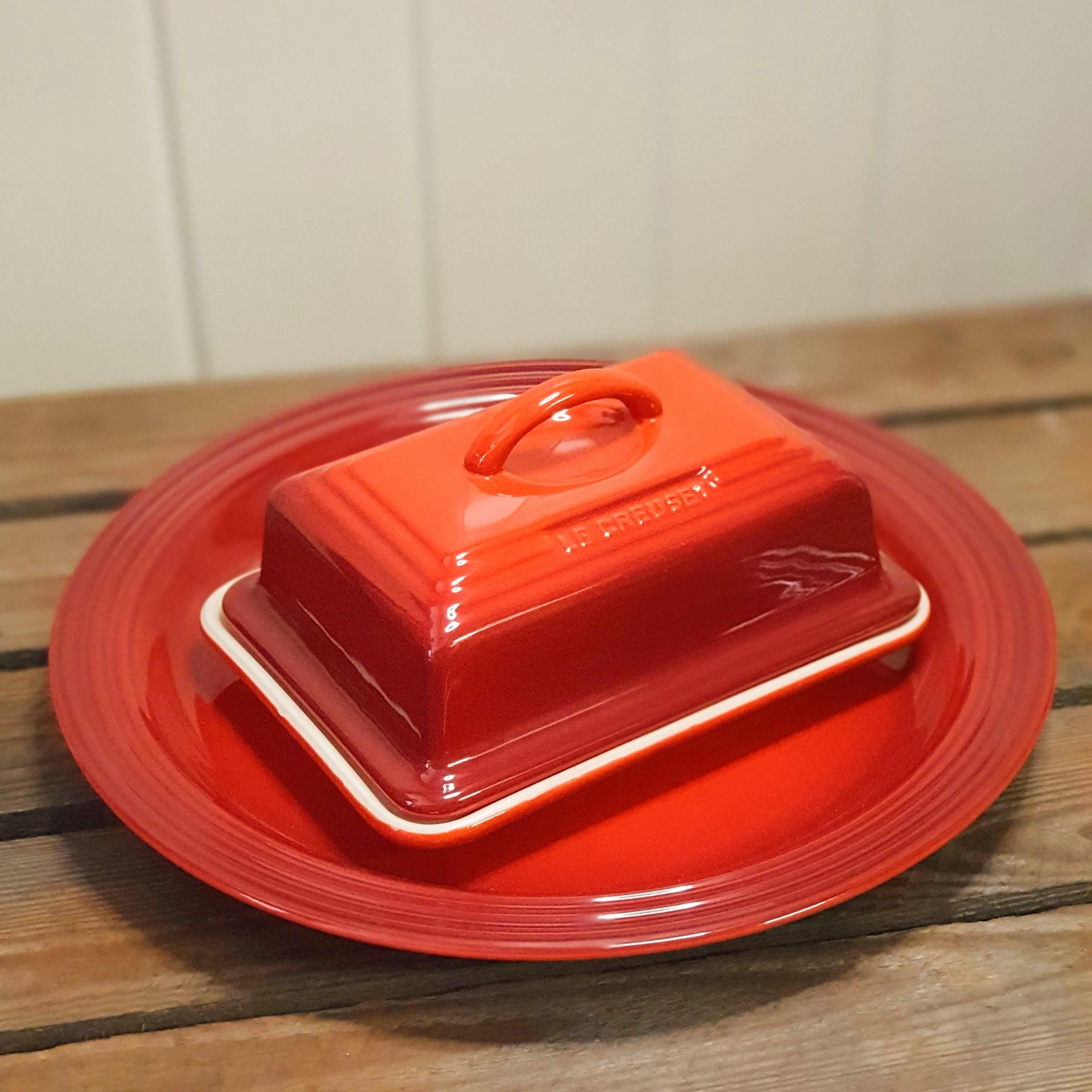 le creuset butter dish cerise
