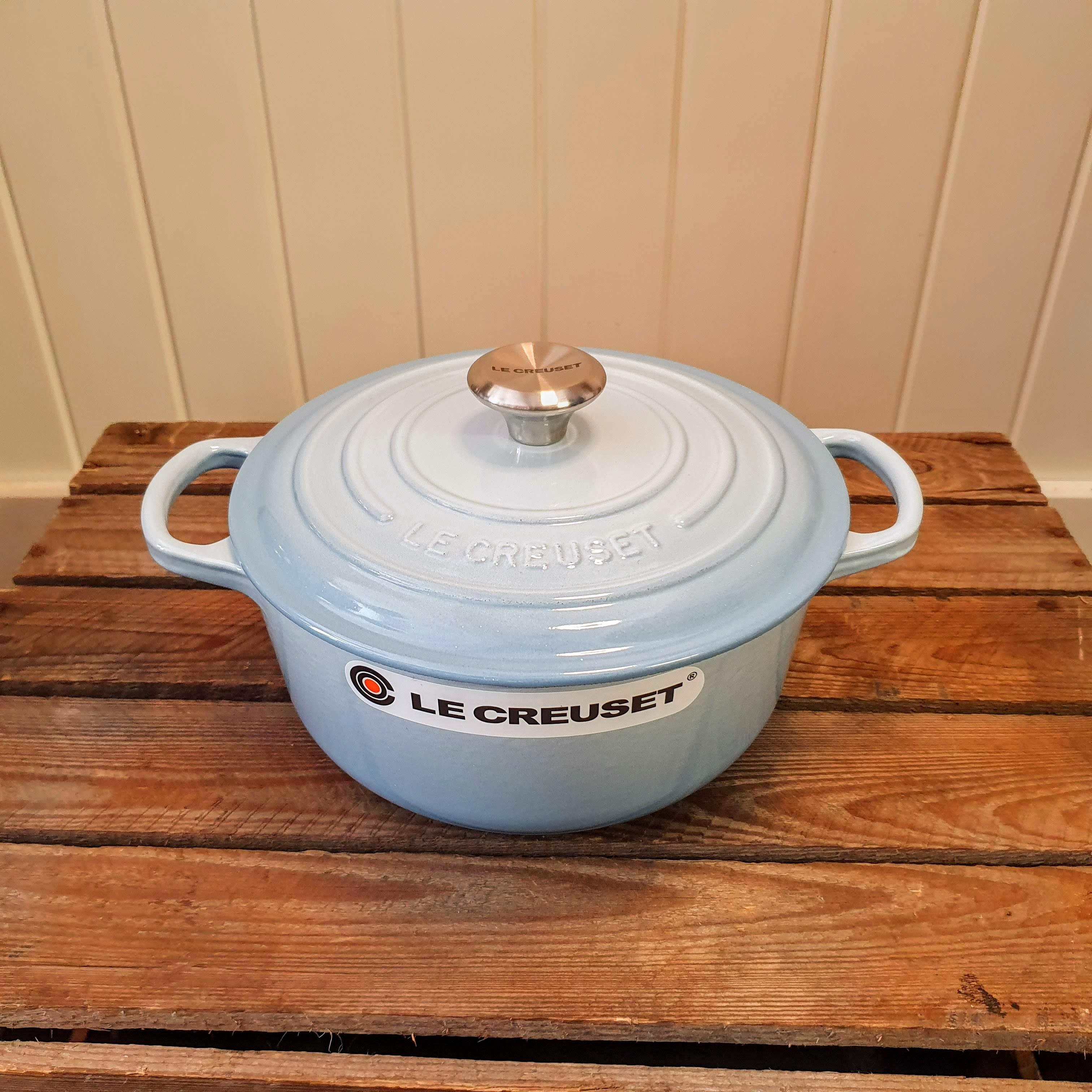 le creuset 20cm round casserole coastal blue