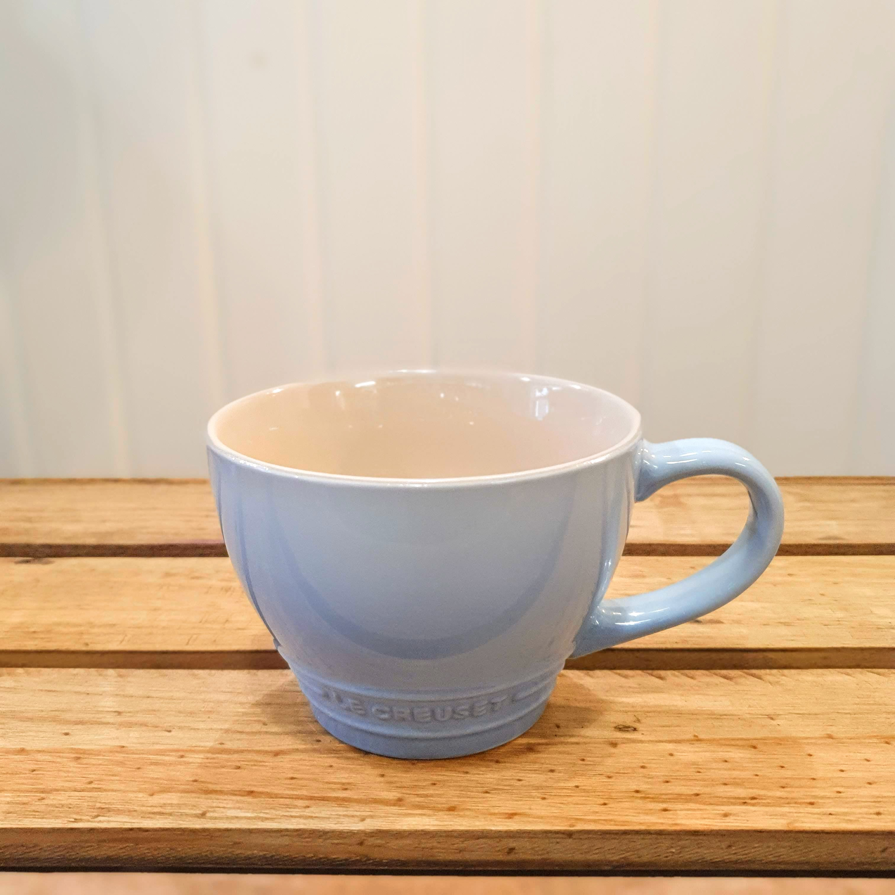 le creuset grand mug coastal blue single