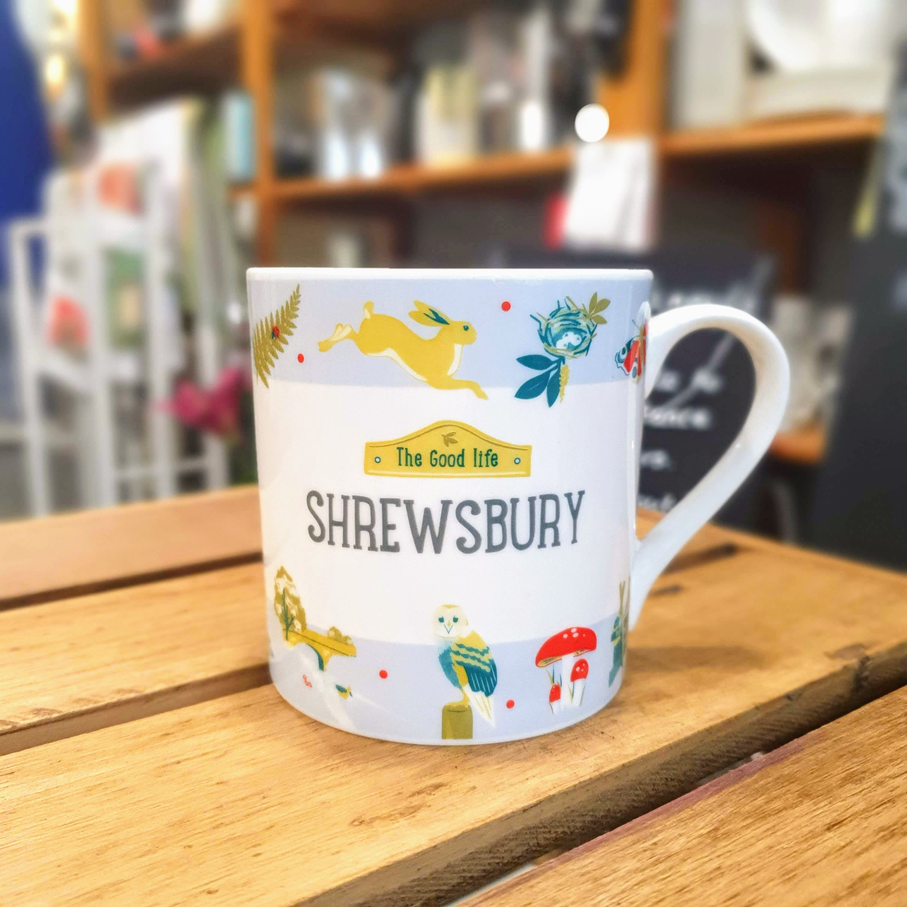 Shrewsbury good life china mug