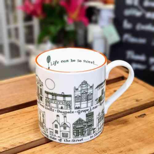 Shrewsbury life is so sweet china mug