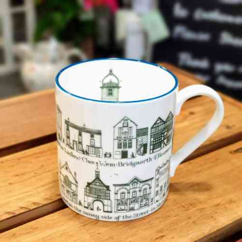 Shropshire town china mug