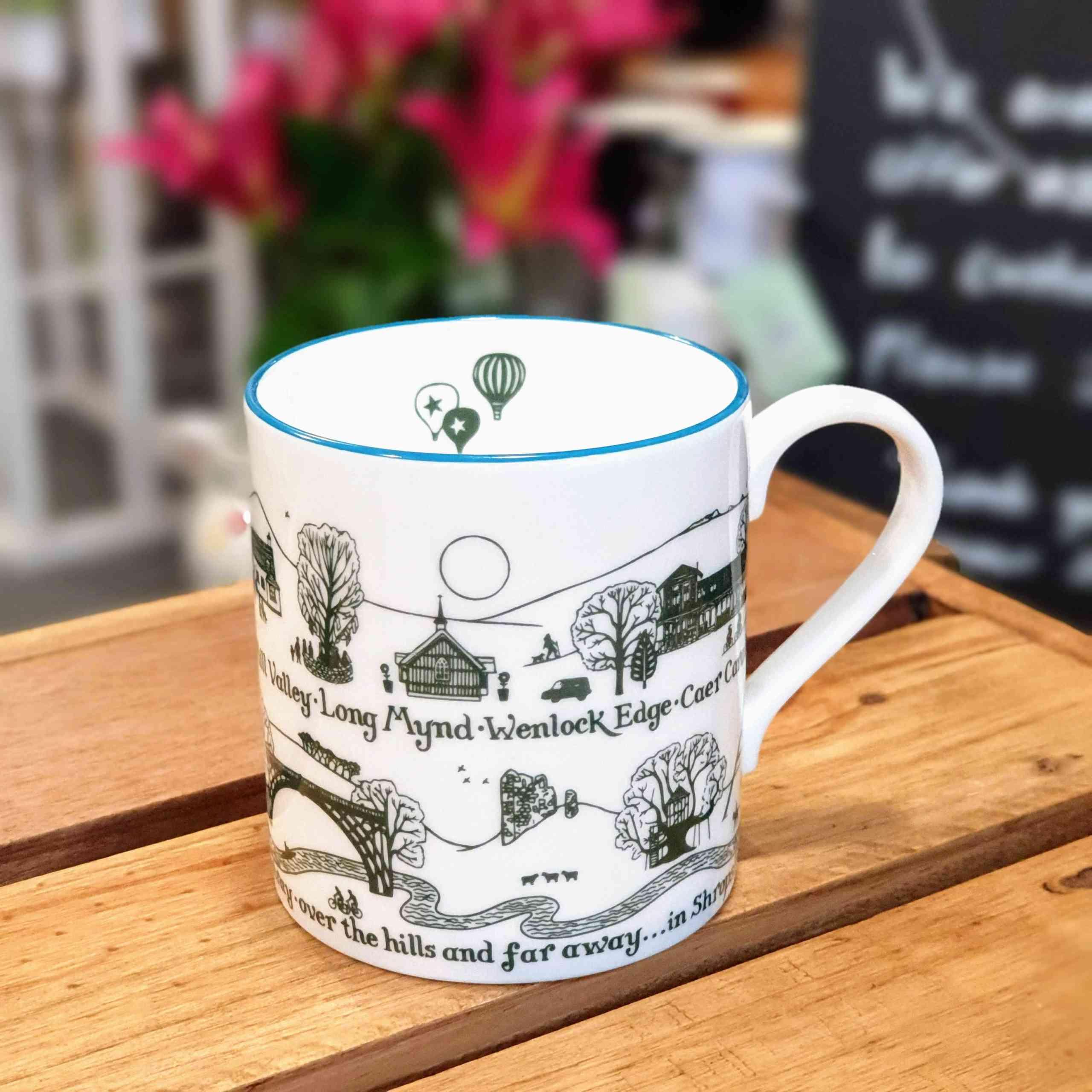 Shropshire balloons china mug
