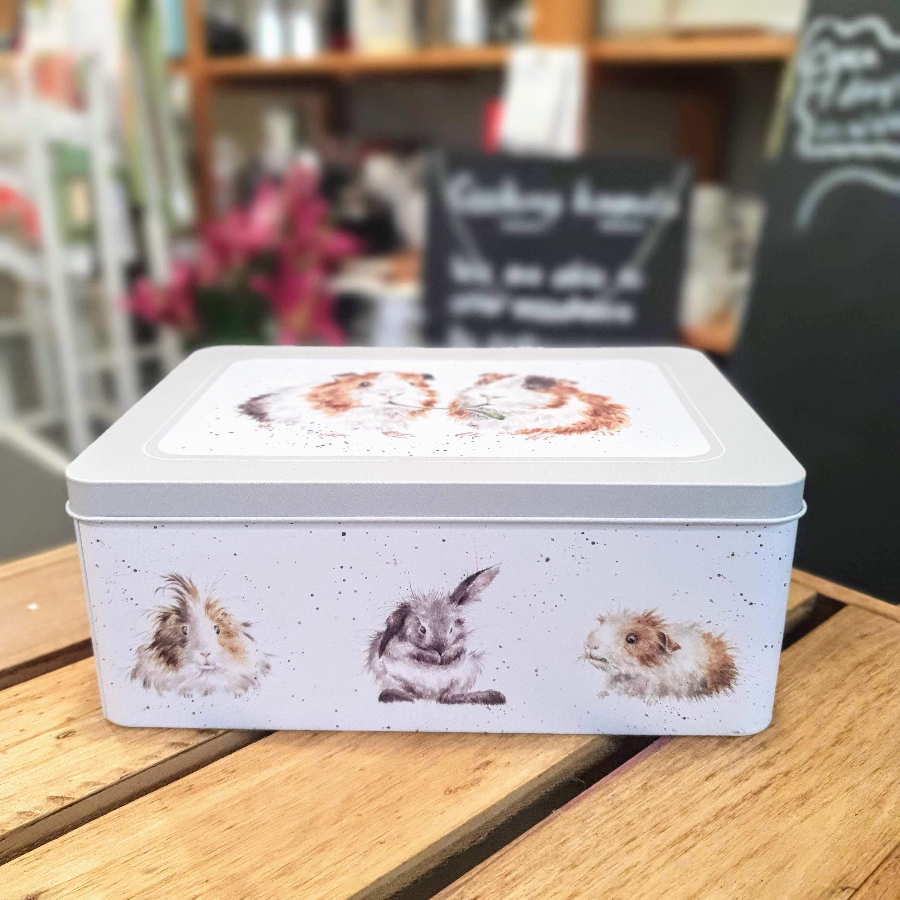 guinea pig rectangular tin