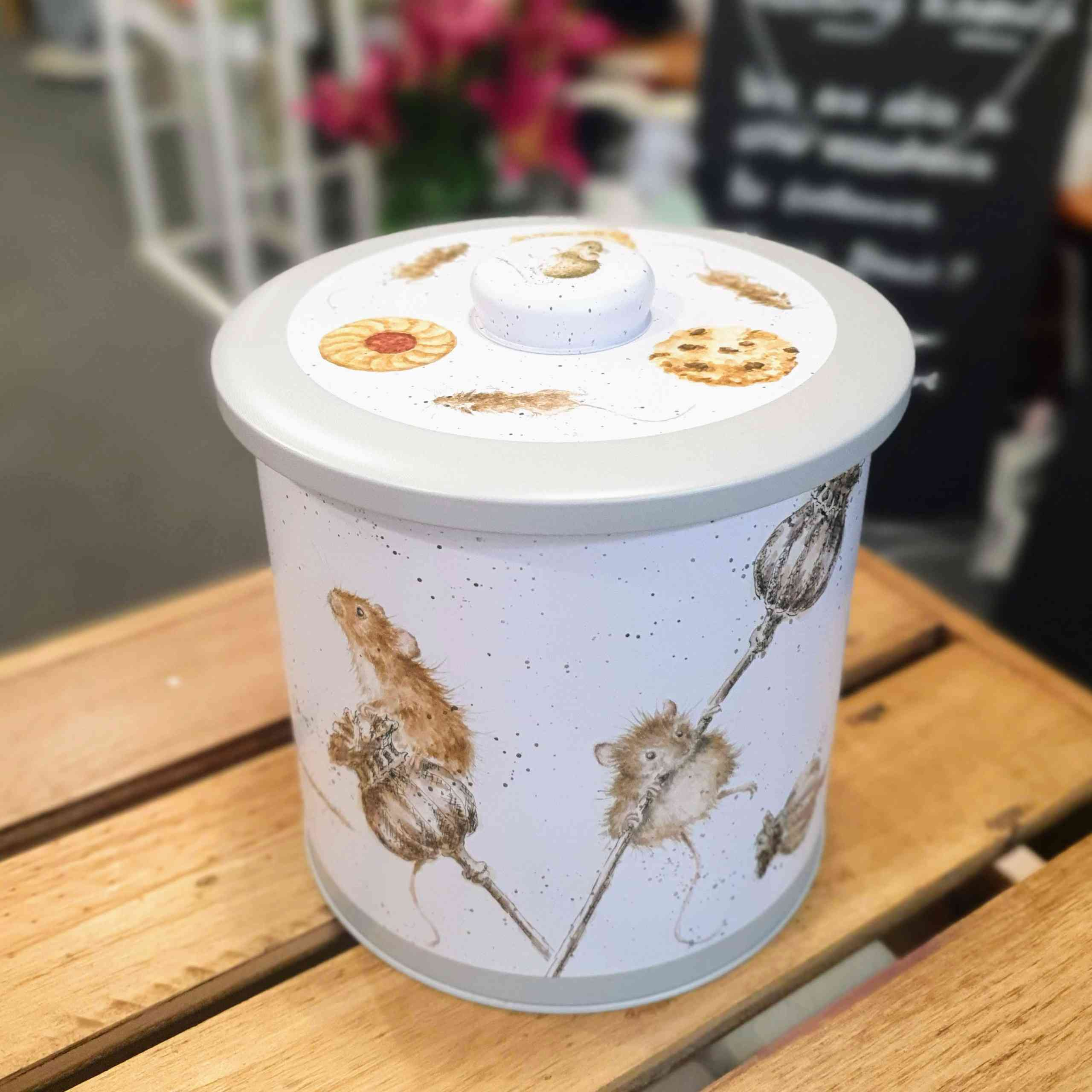 country mice biscuit barrel