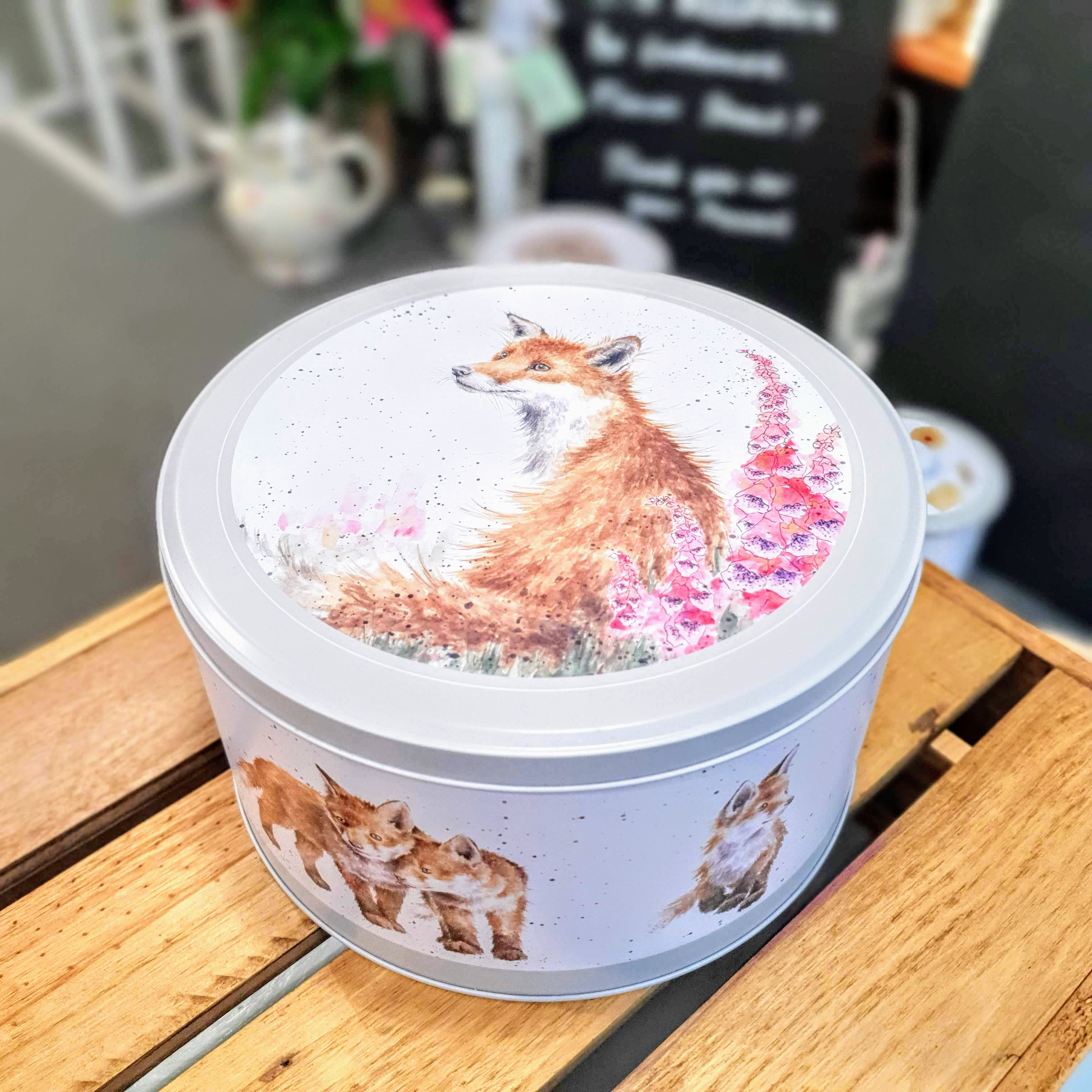 foxgloves wrendale tin