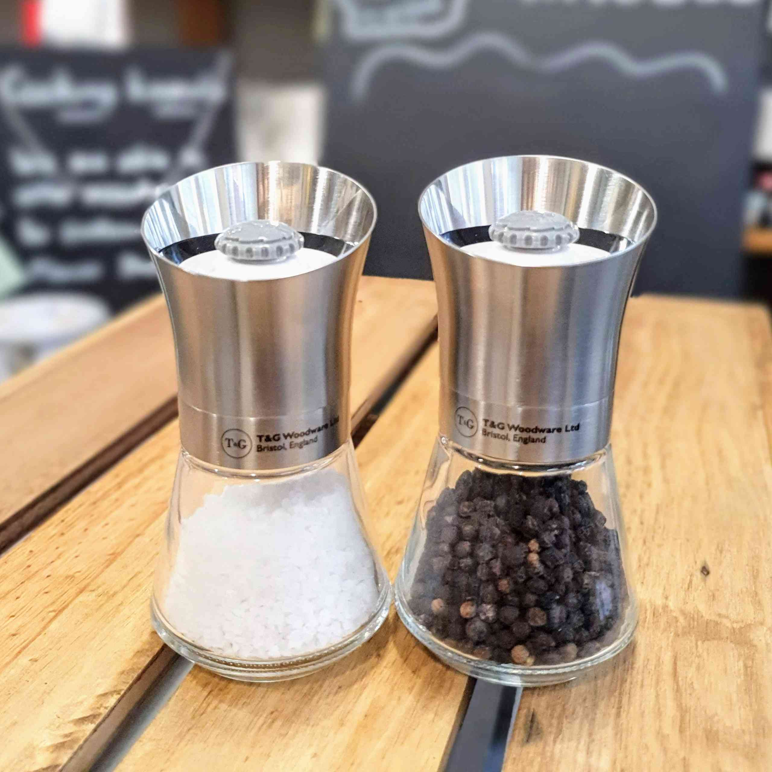 T&G Salt and Pepper Mill Stainless Steel