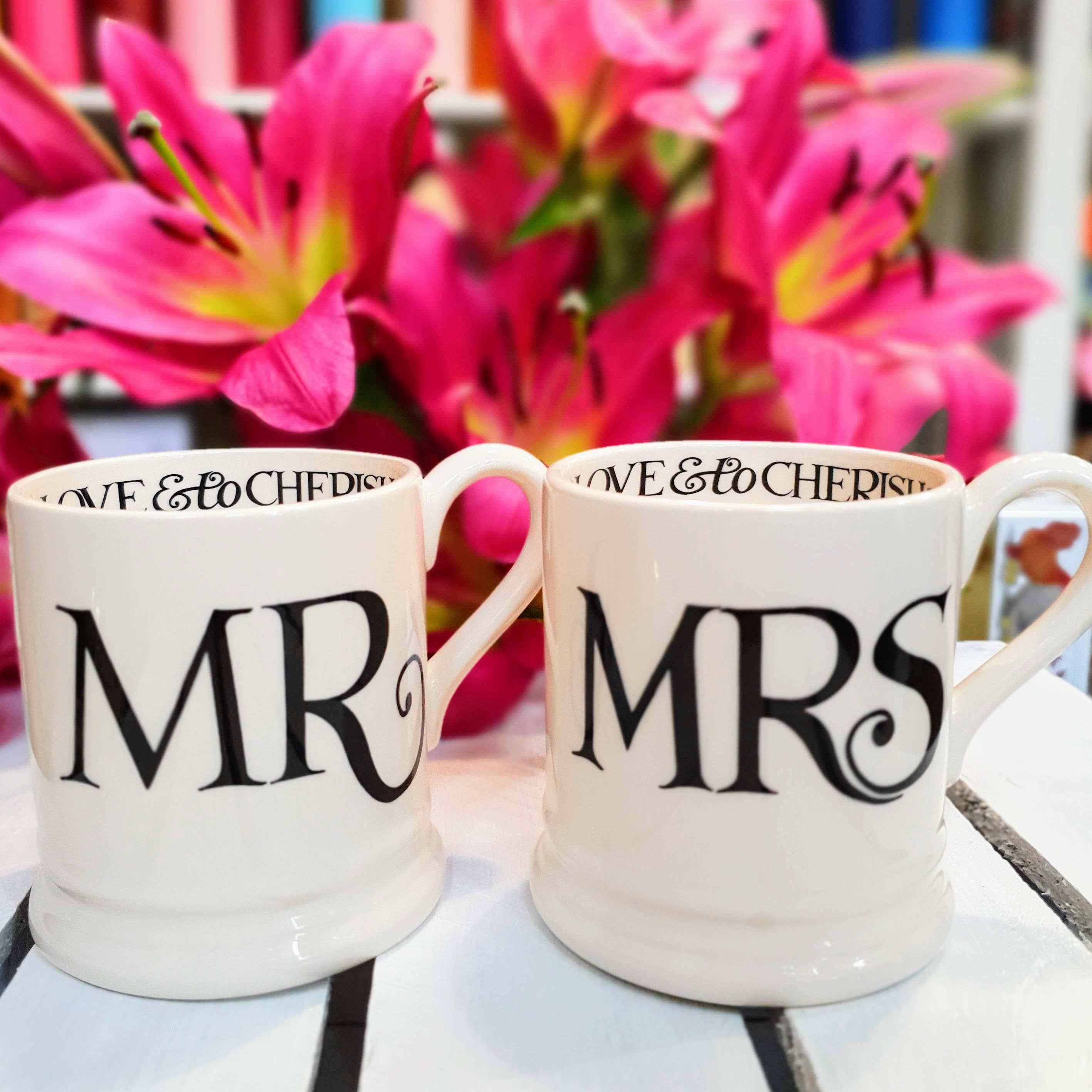 EB mr & mrs mug