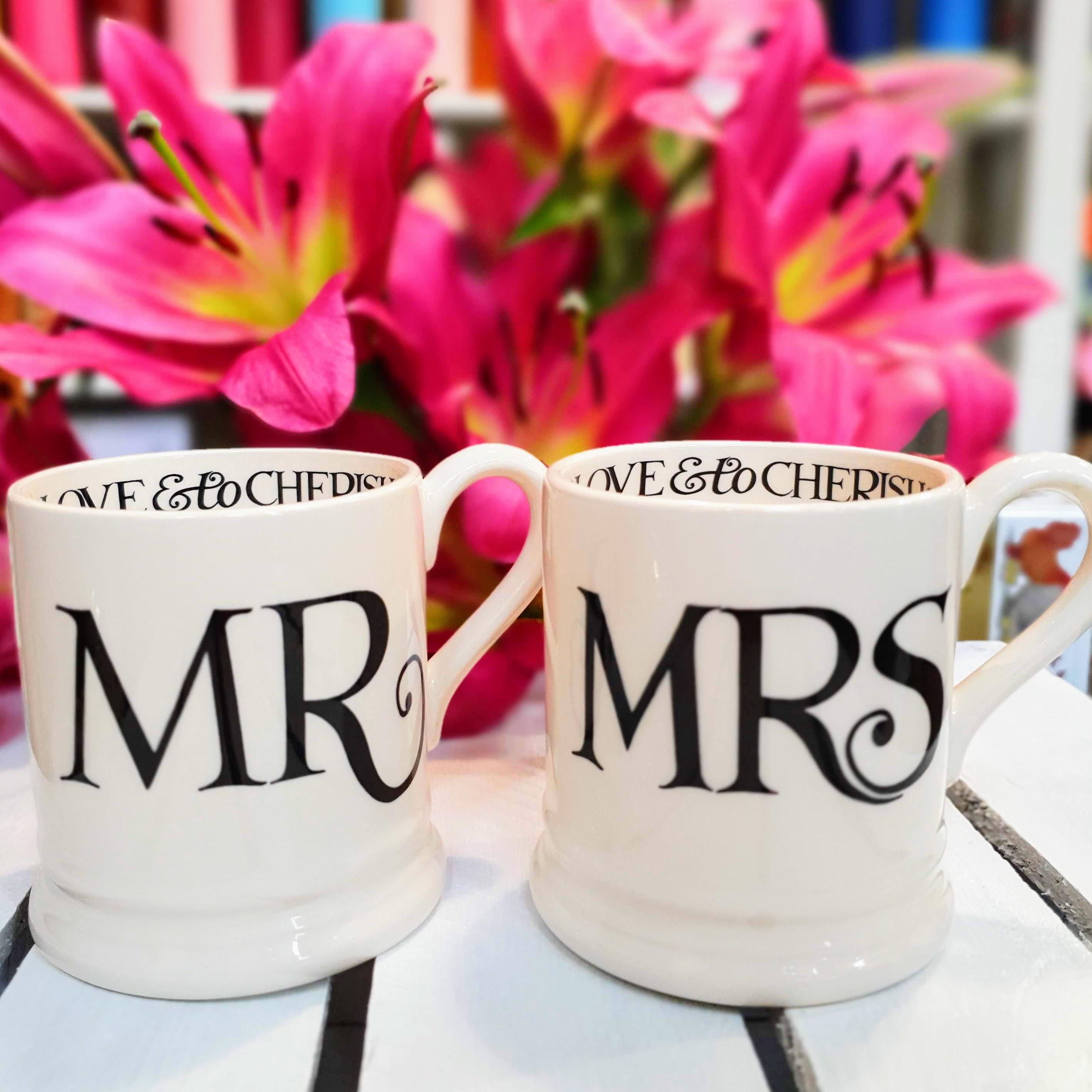 EB mr & mrs mug