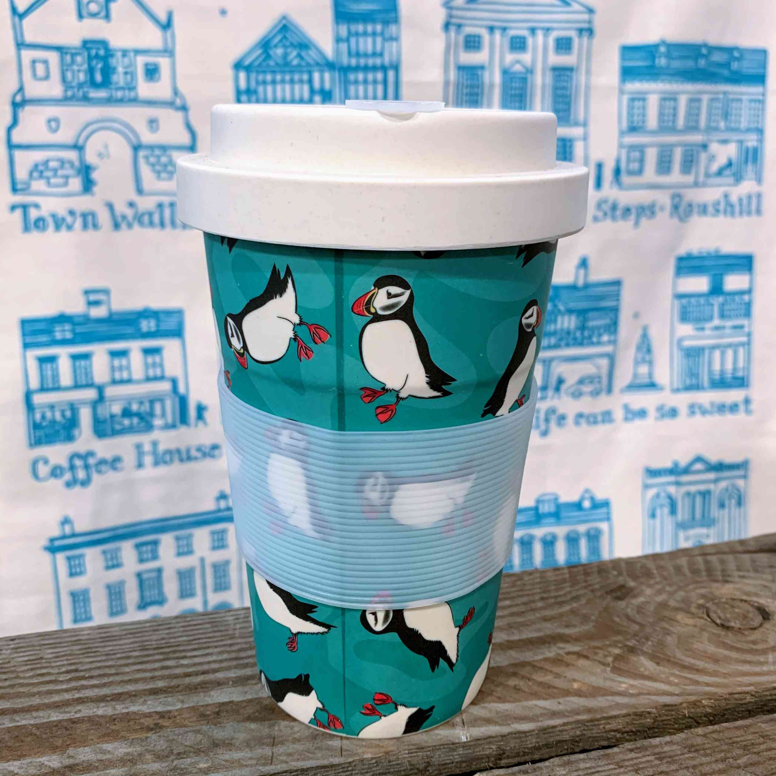 Eco Chic Bamboo Cup - Puffin