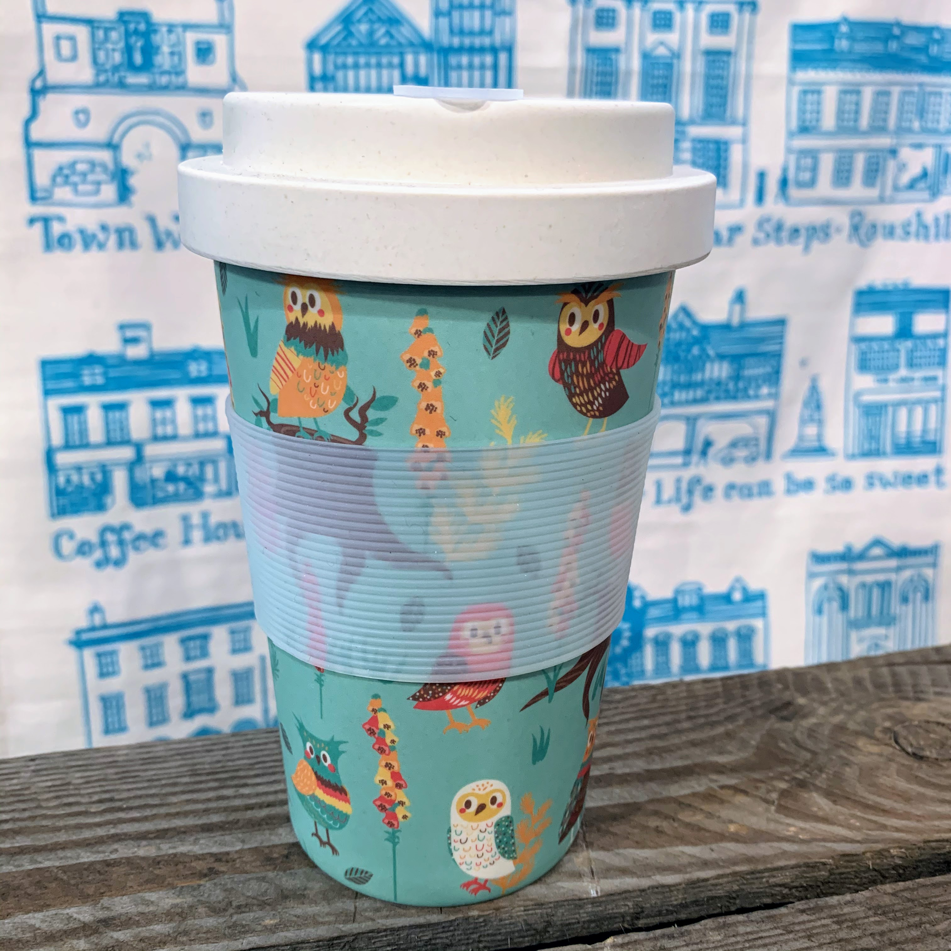 Eco Chic Bamboo Cup - Owl