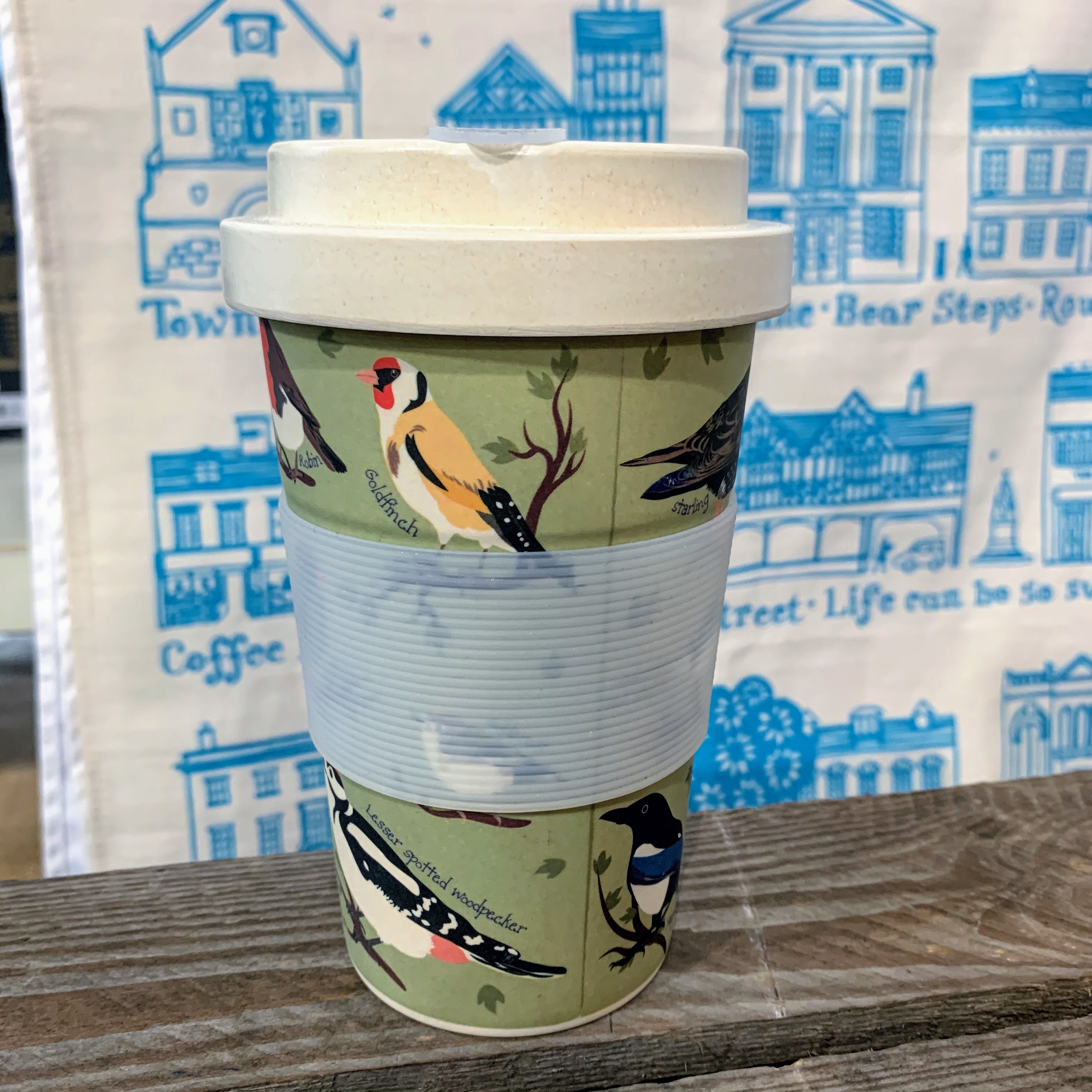 Eco Chic Bamboo Cup - Birds