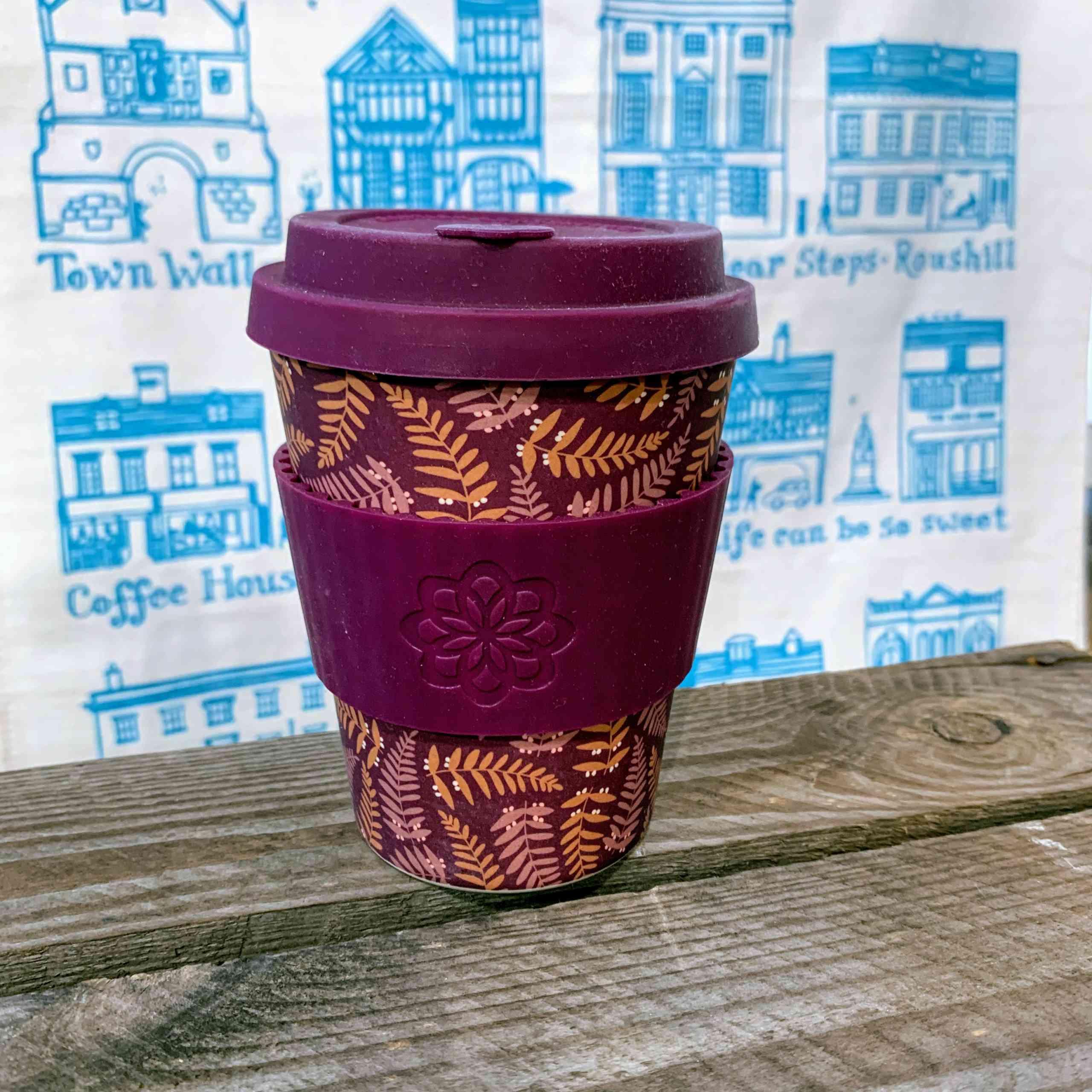 E Coffee Cup - Purple