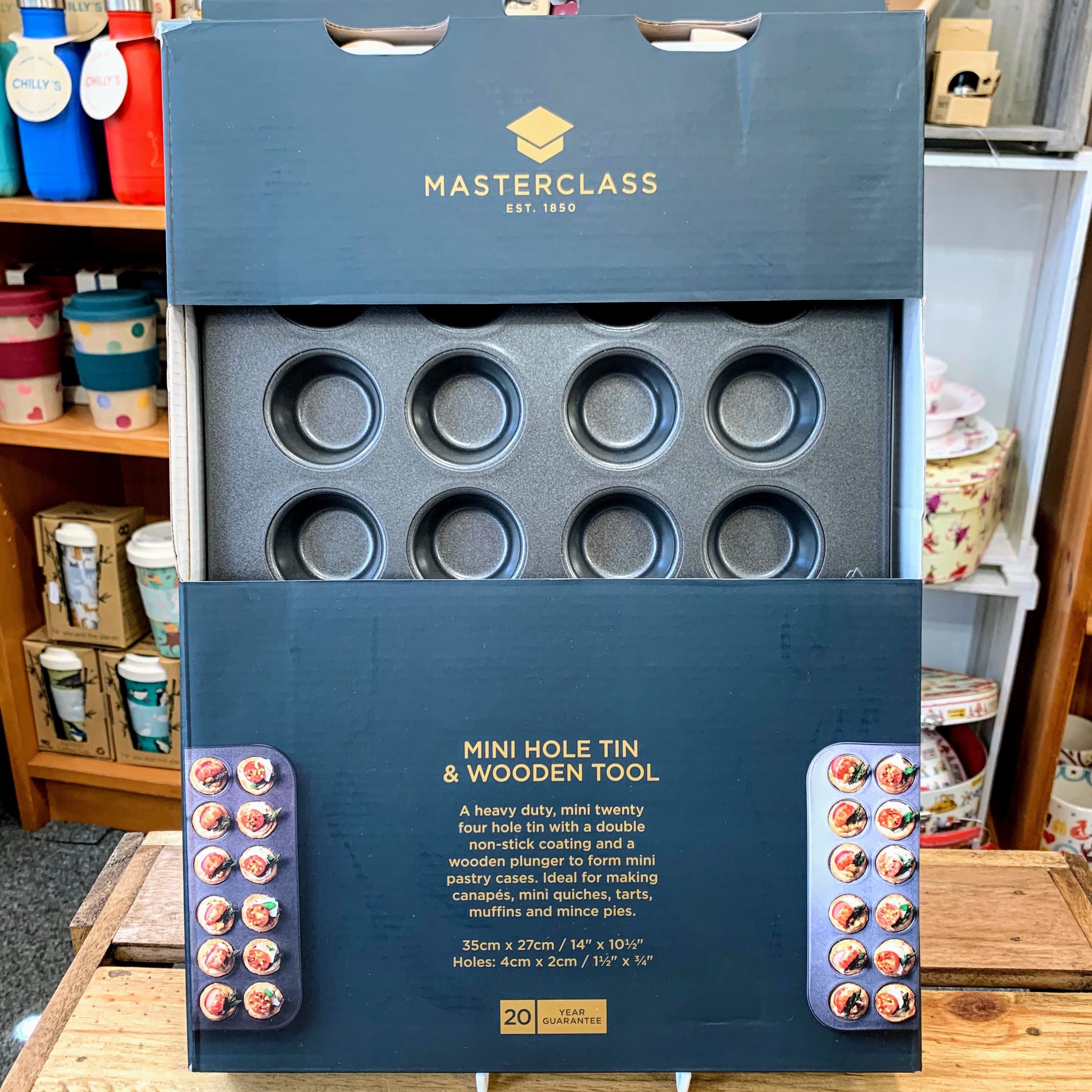 Masterclass Hole Tin And Wooden Tool