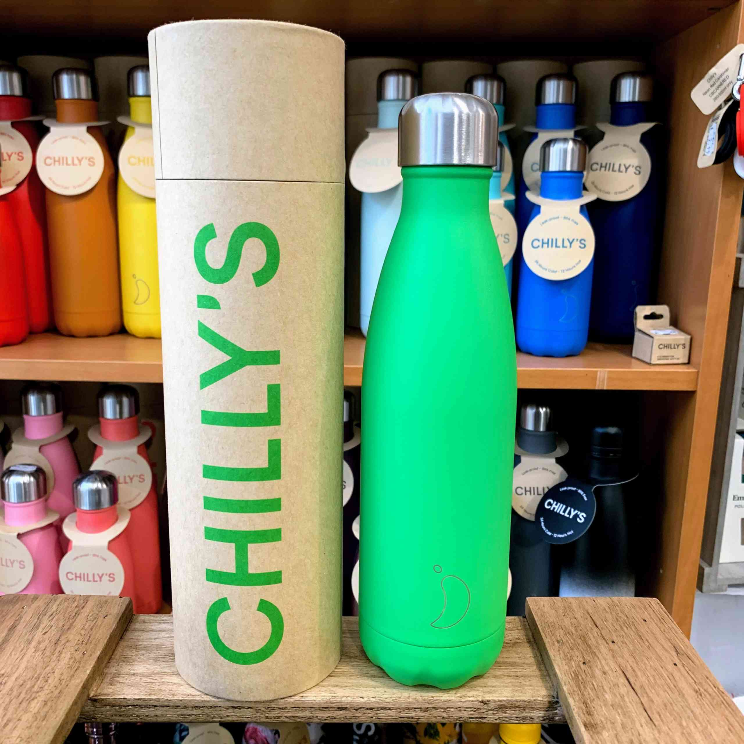 Neon Green Chilly's Bottle