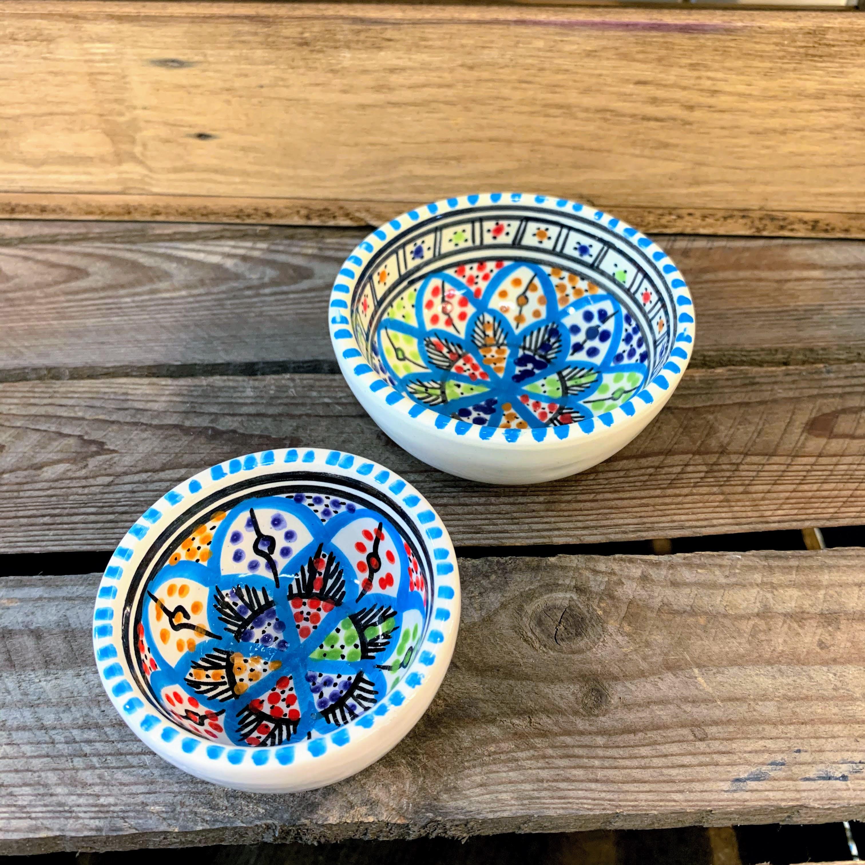 Tunisian Hand Painted Bowls - Dip