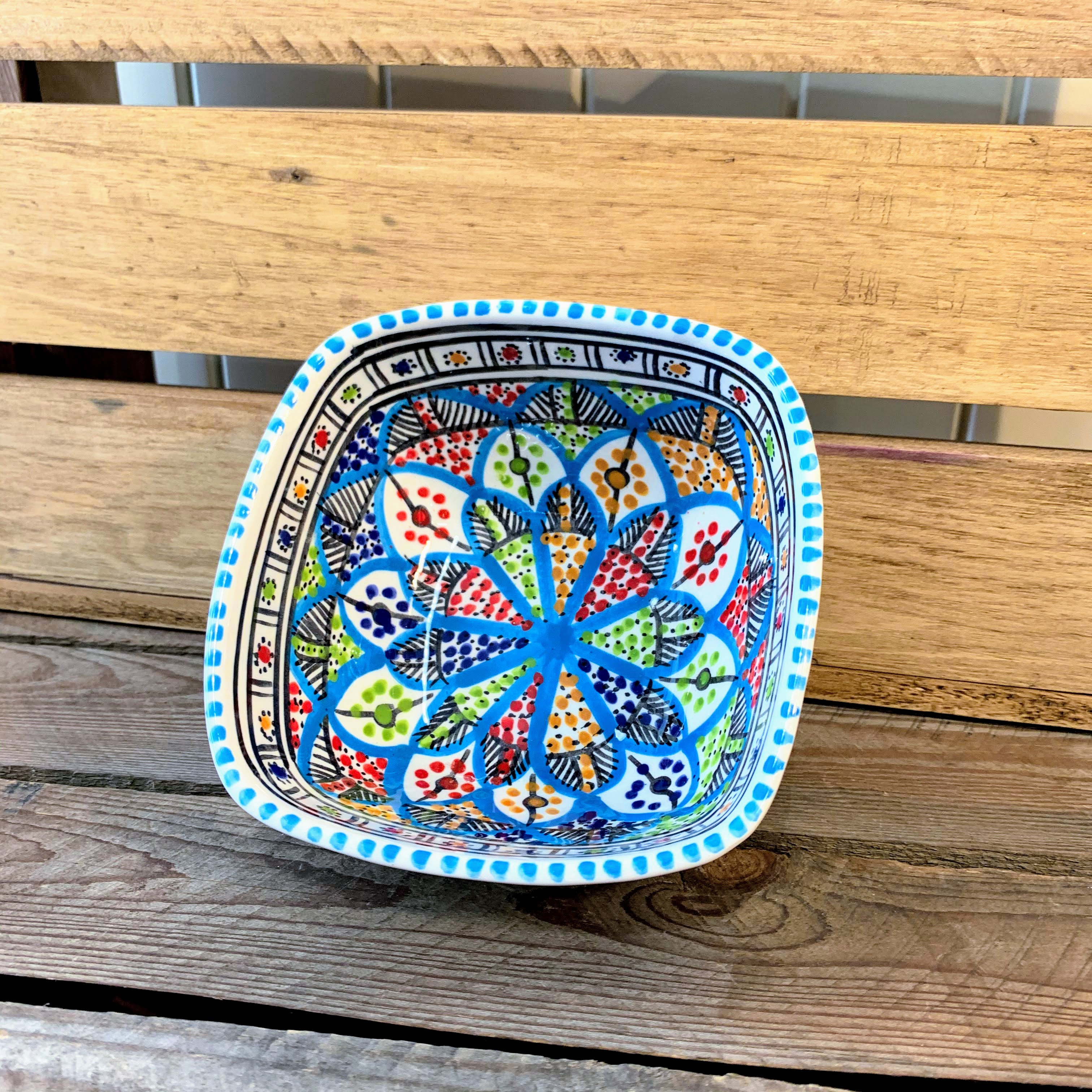 Tunisian Hand Painted Bowls - Square