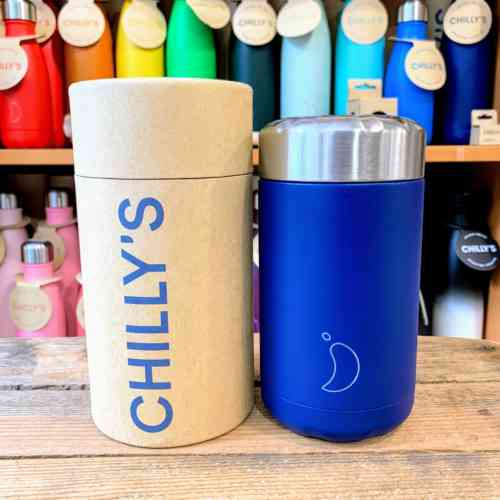 Matte Blue Chilly Food Pots - 500ml